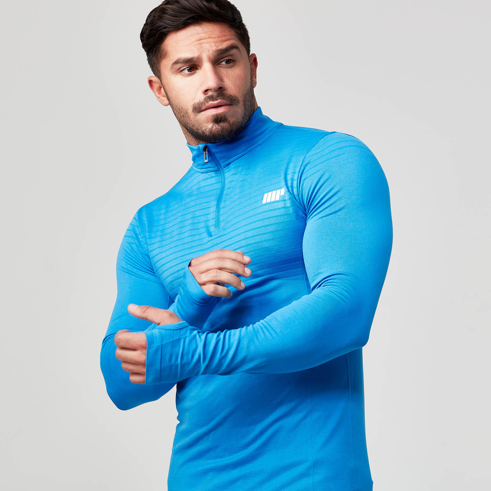 Seamless 1/4 Zip Top - Dark Blue - M