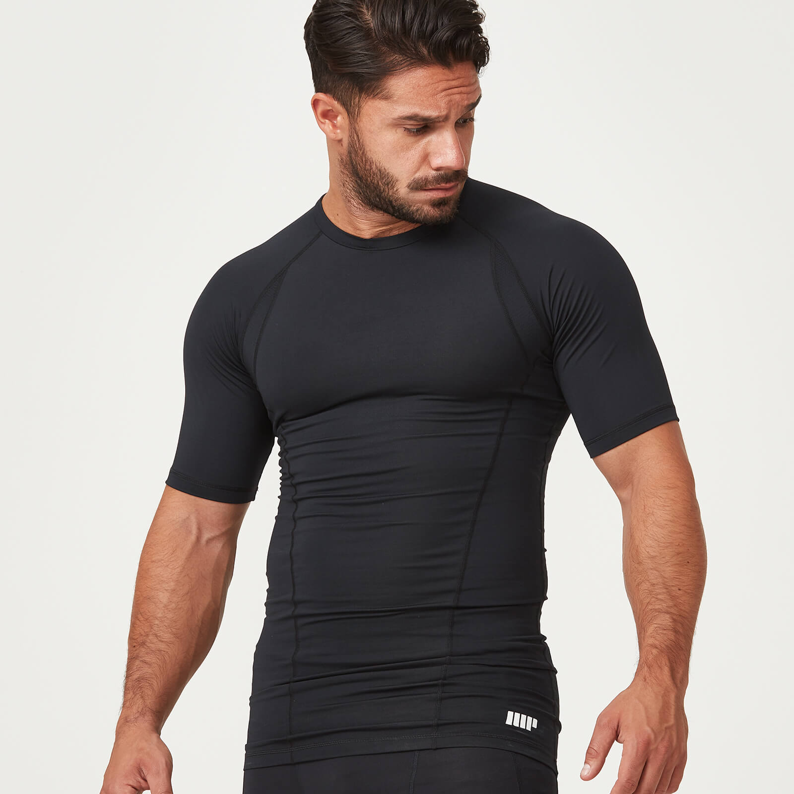 Myprotein Compression Short Sleeve T-Shirt - Black - L