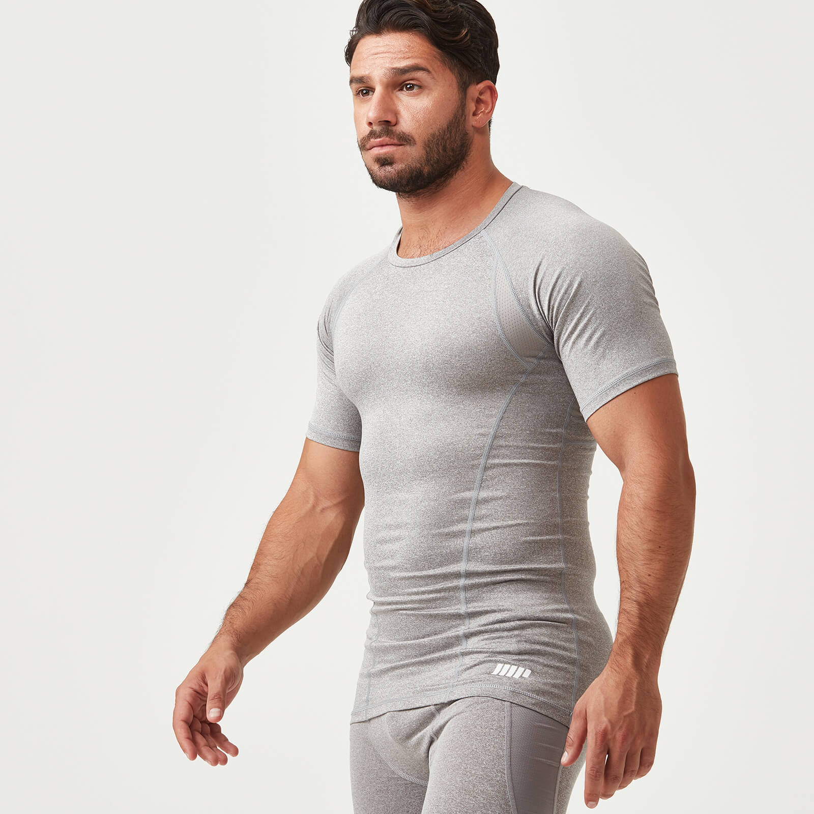 Myprotein Compression Short Sleeve T-Shirt - Grey Marl - XXL
