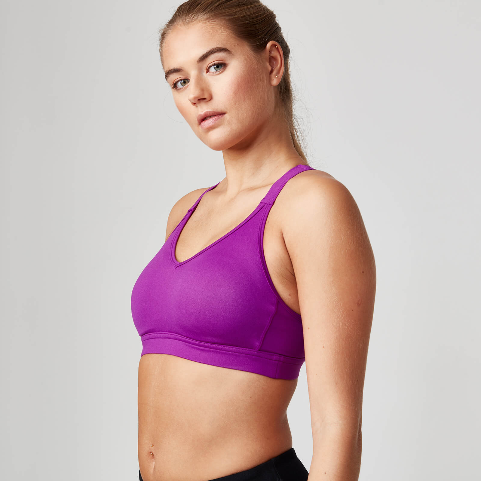 Myprotein Classic Heartbeat Sports Bra - XS, Violet