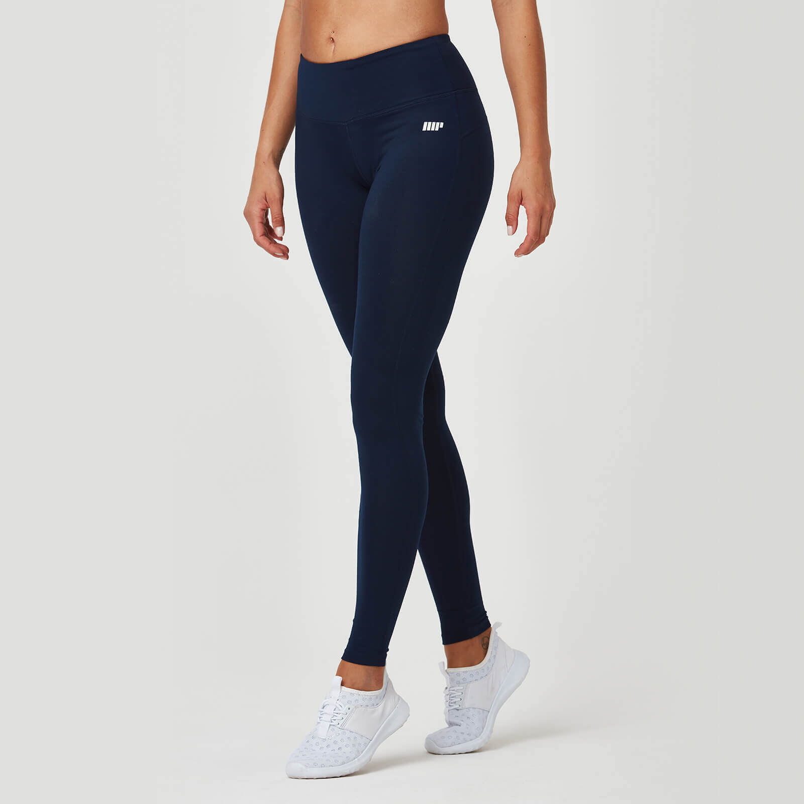 Myprotein Classic Heartbeat Full Length Leggings - Navy - XS