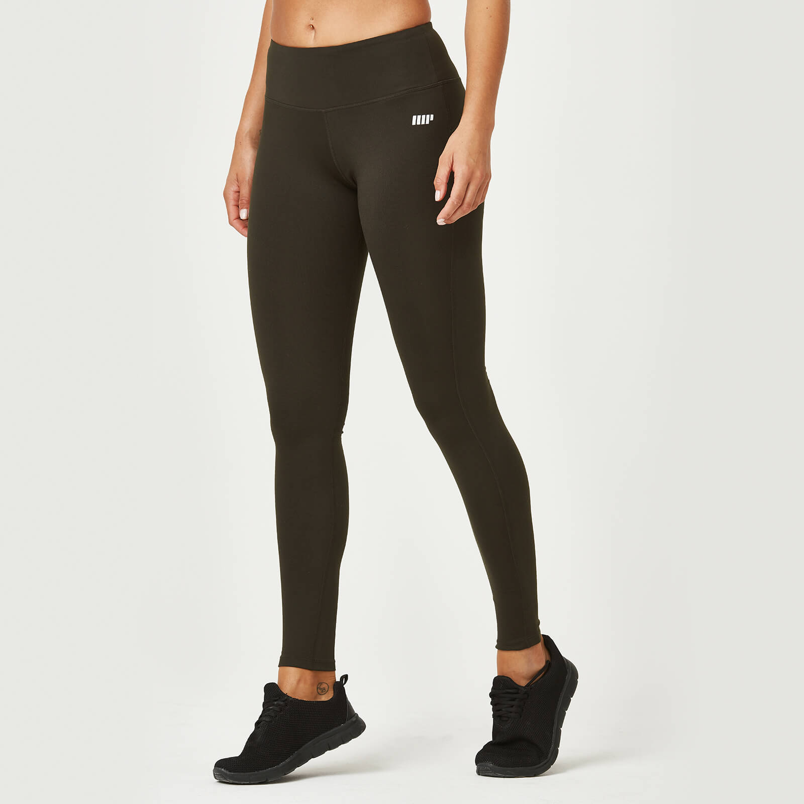 Myprotein Classic Heartbeat Full Length Leggings - Dark Khaki - XS