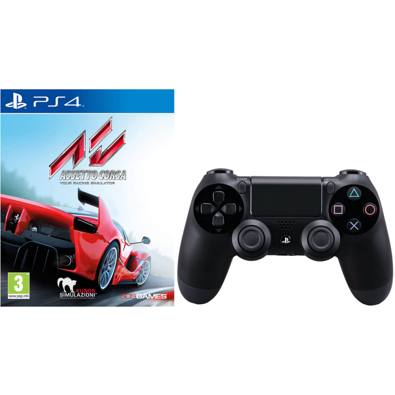 Assetto Corsa With Sony Playstation 4 Dualshock 4