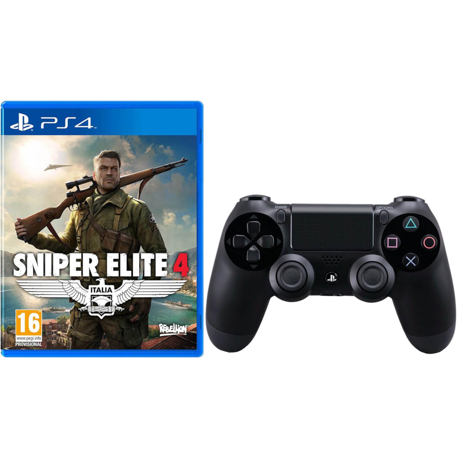 Black Sony Dualshock 4 Sniper With Playstation Elite Controller Ybf7g6y