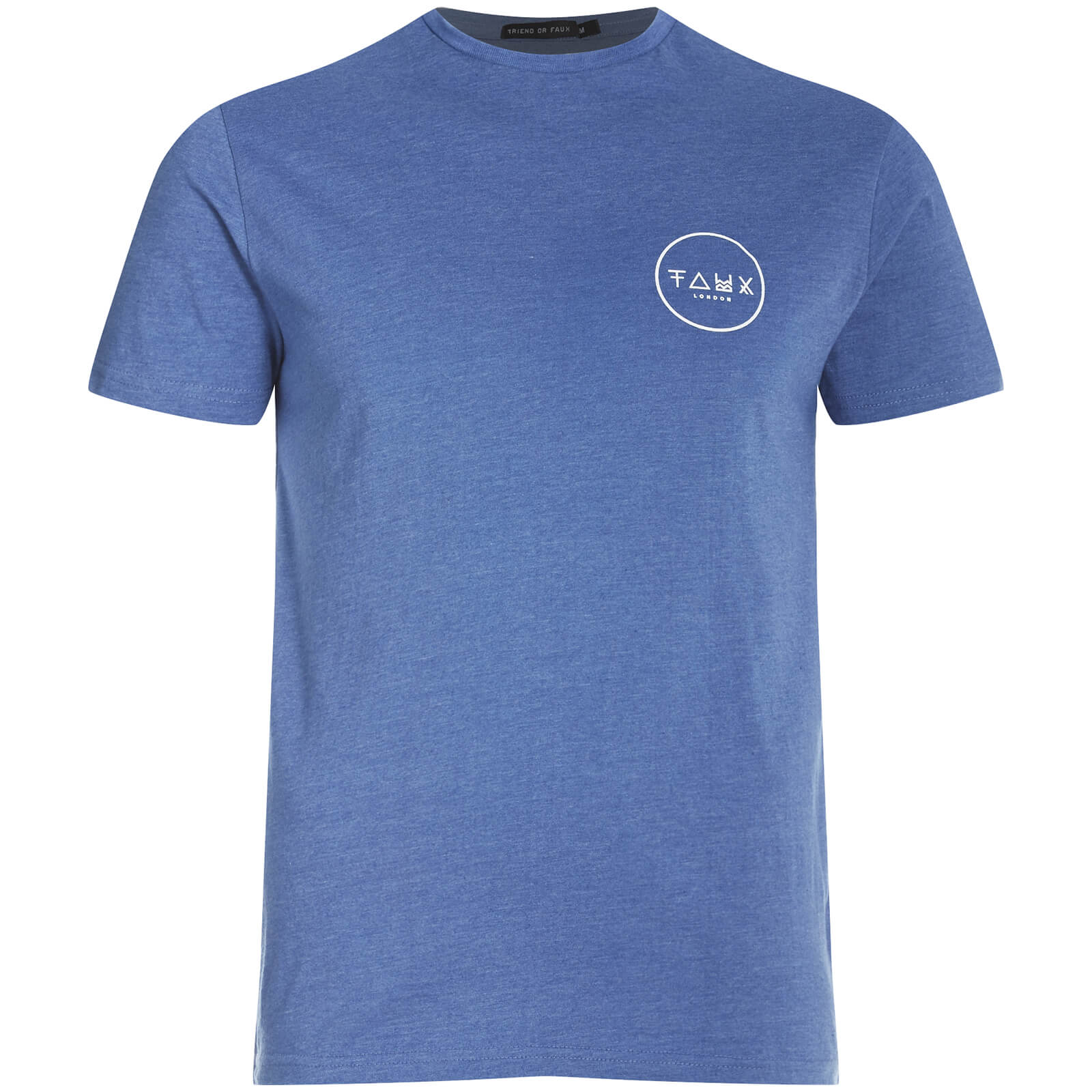 Friend or Faux Men s Cresent T-Shirt - Blue Clothing  2907846d6