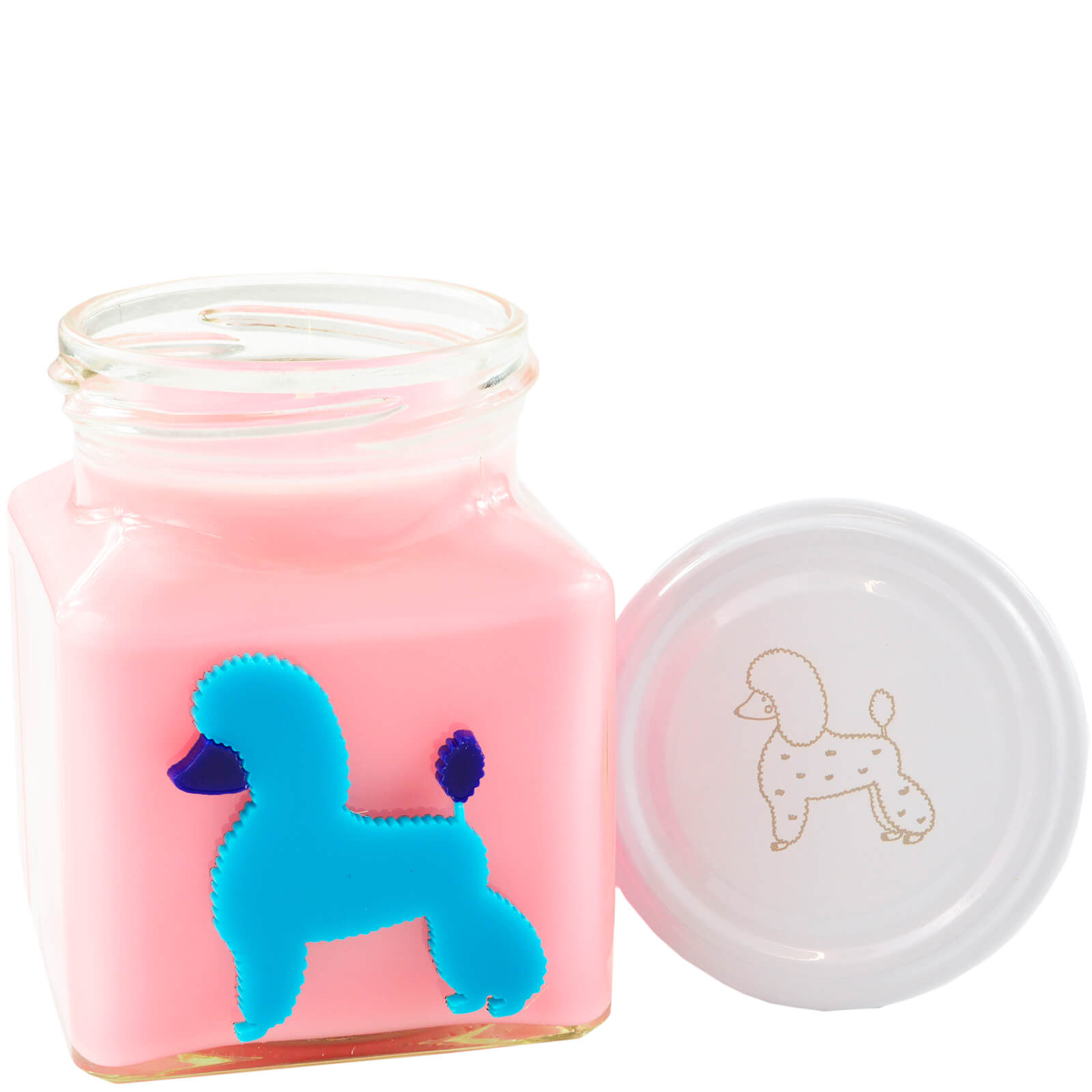 Pink Cranberry Marmalade Poodle Party Candle