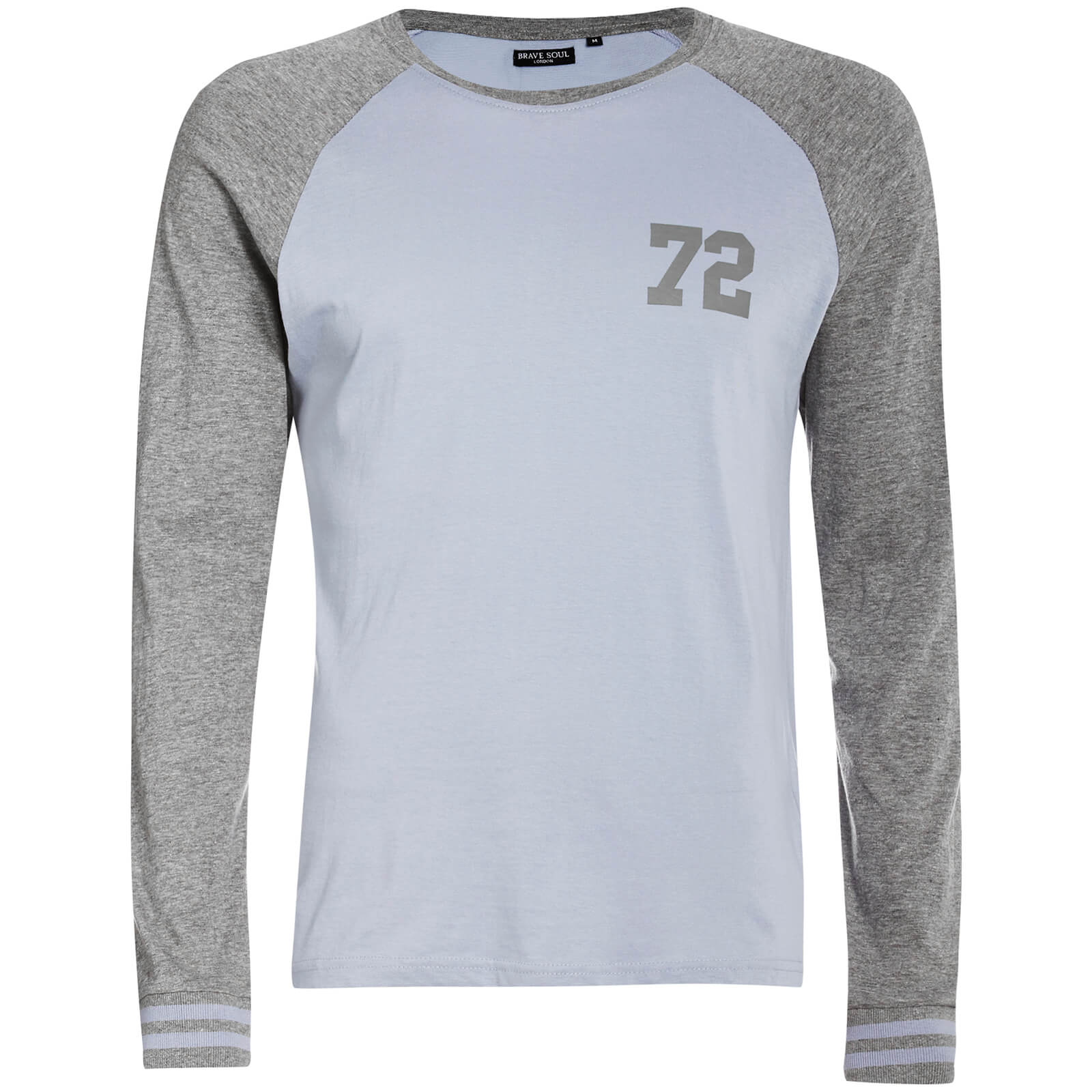 daaeecef88c5 Brave Soul Men's Granite Long Sleeve Top - Blue/Grey Mens Clothing ...