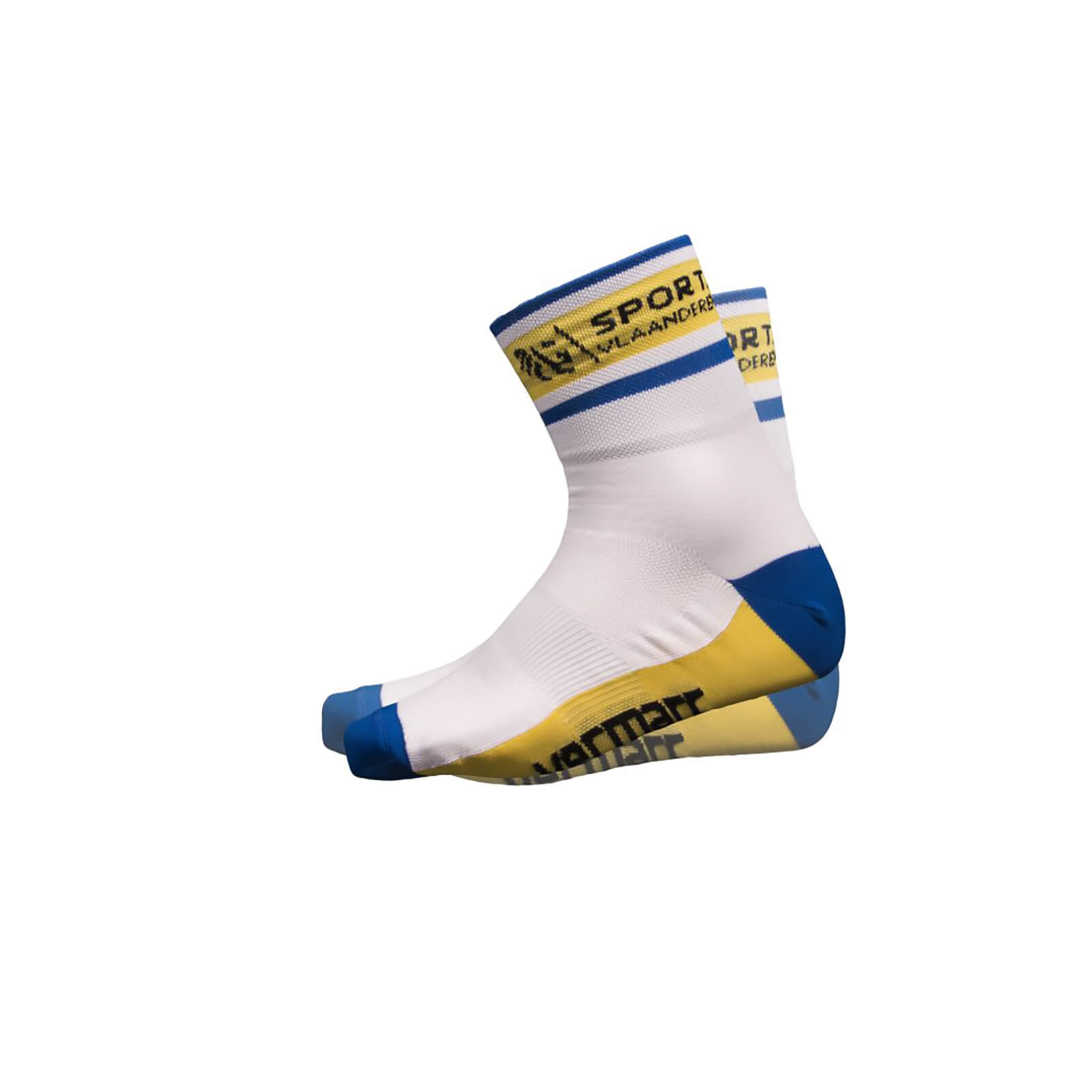 Sport Vlaanderen Socks - White/Blue/Yellow