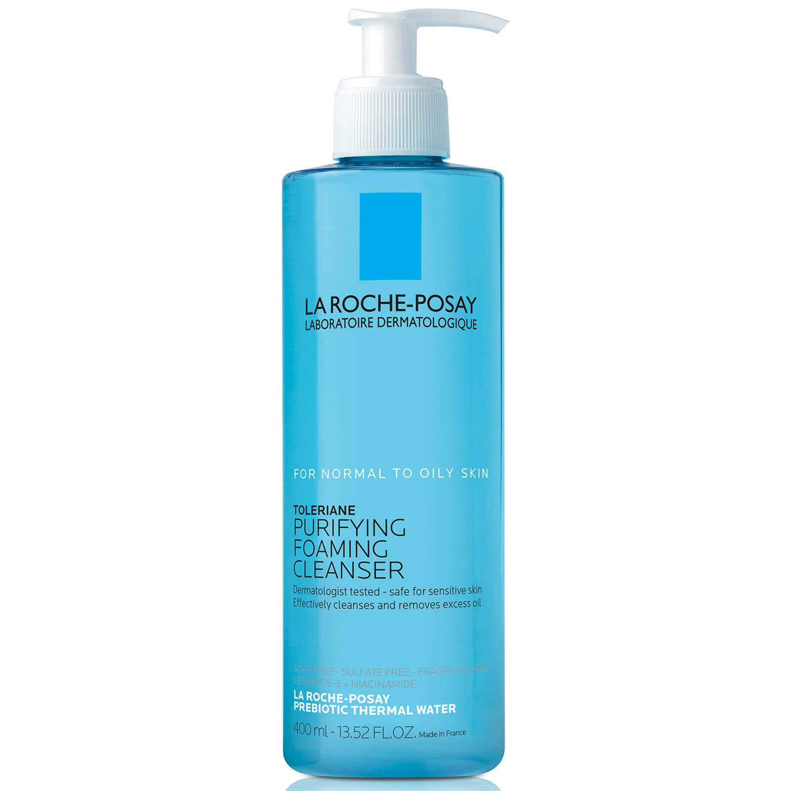 La Roche-Posay Toleriane Purifying Foaming Face Wash Cleanser for Normal to Oily Sensitive Skin, 13.5 Fl. Oz.