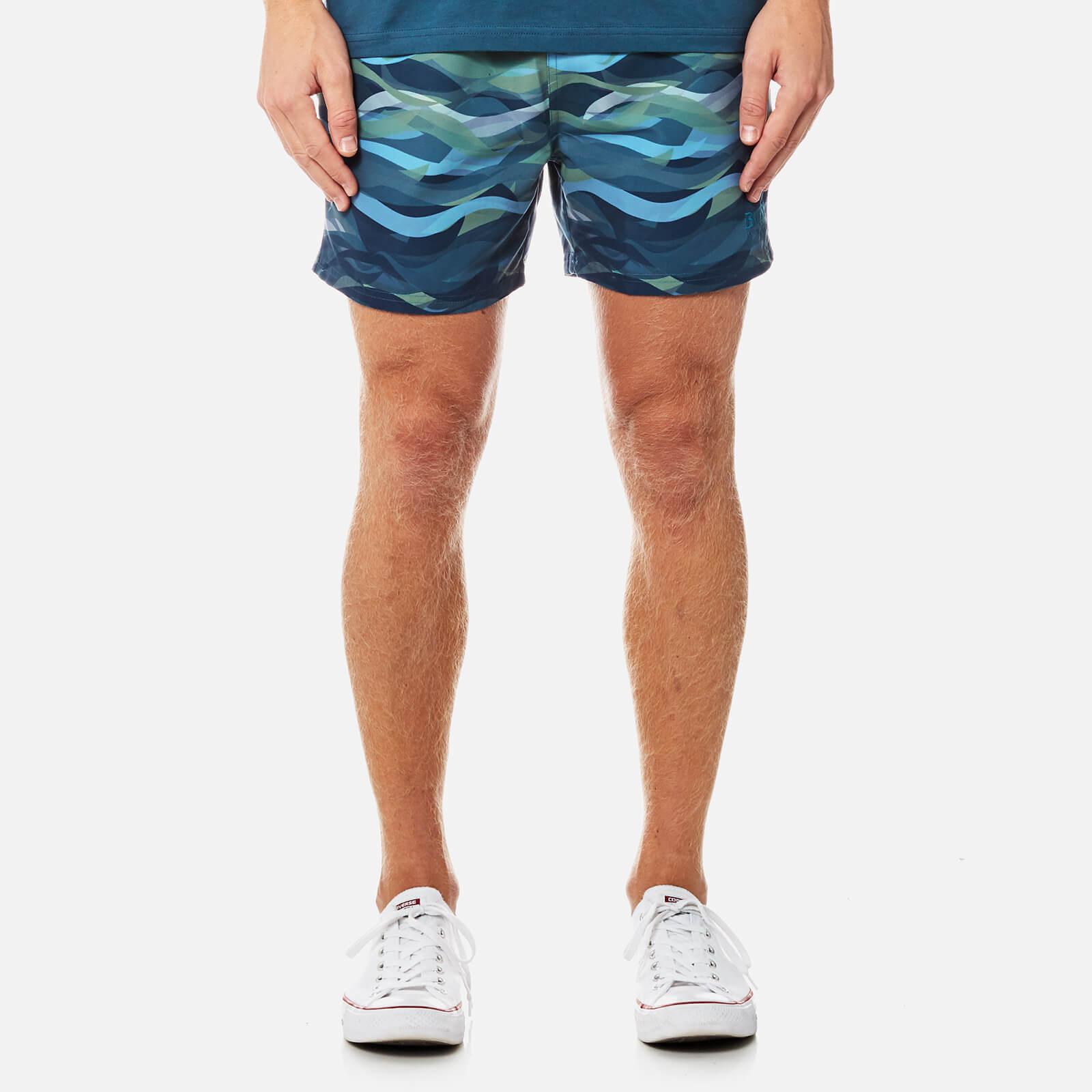 acc28655f9 BOSS Hugo Boss Men's Piranha Swim Shorts - Open Blue - Free UK Delivery  over £50
