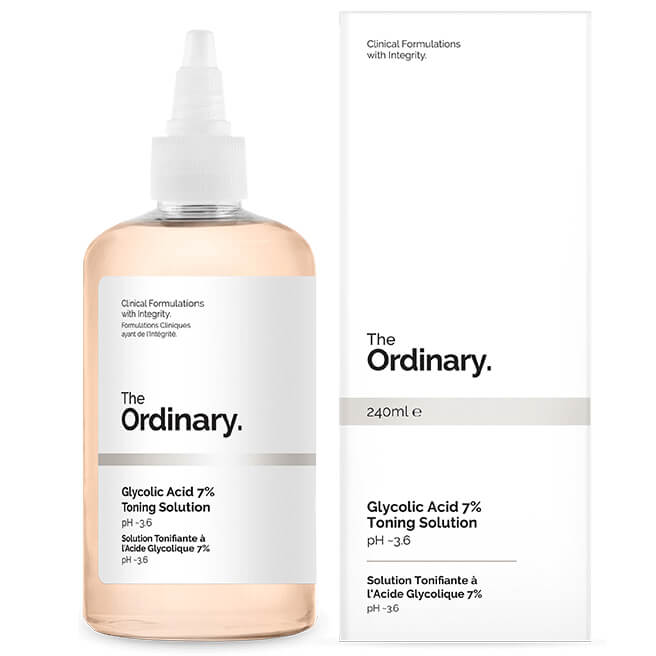 The Ordinary Glycolic Acid 7%  Toning solution helped clear up the acne on my brown skin. Need to know what the Ordinary Products to use for Acne
