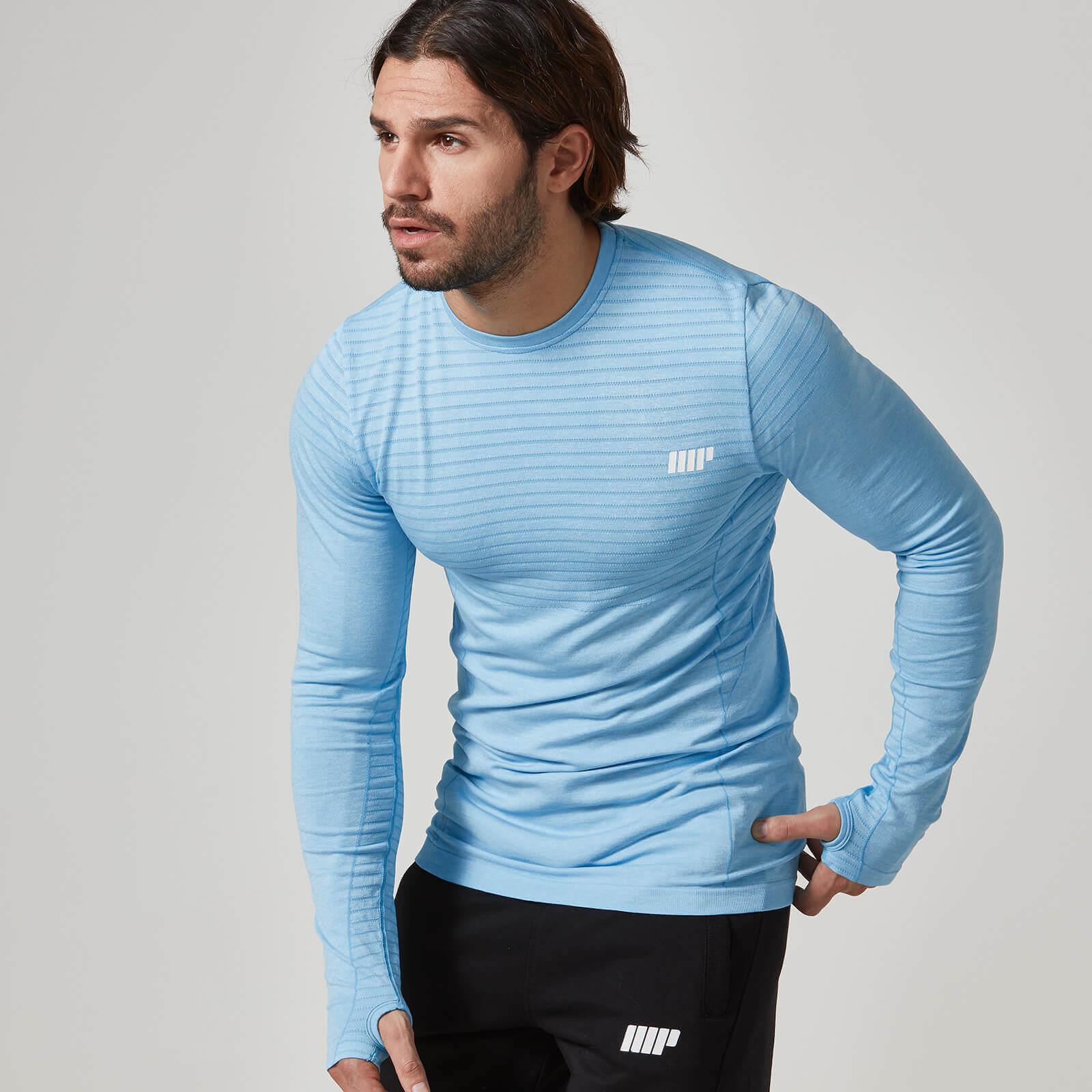 Seamless langærmet t shirt til mænd