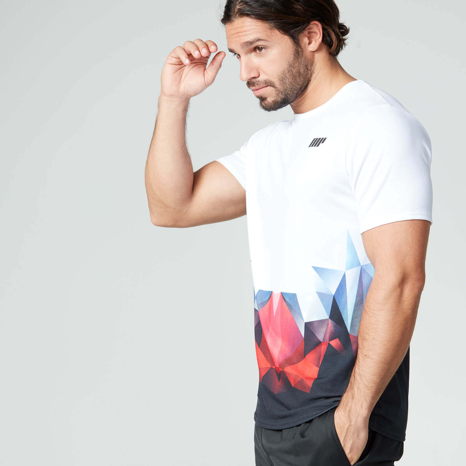 Digital Geo Print T-Shirt