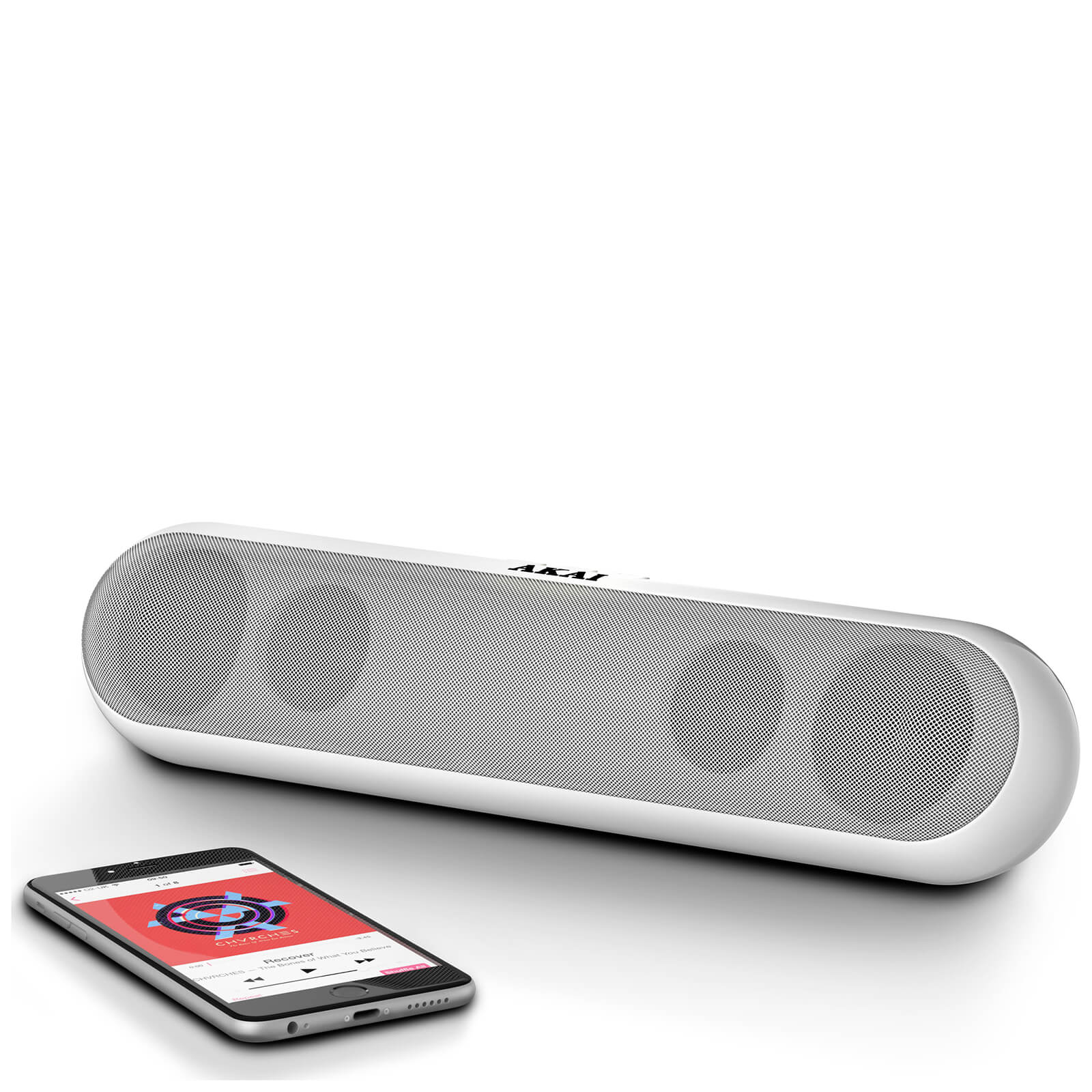 Akai XL Bluetooth Capsule Speaker - White