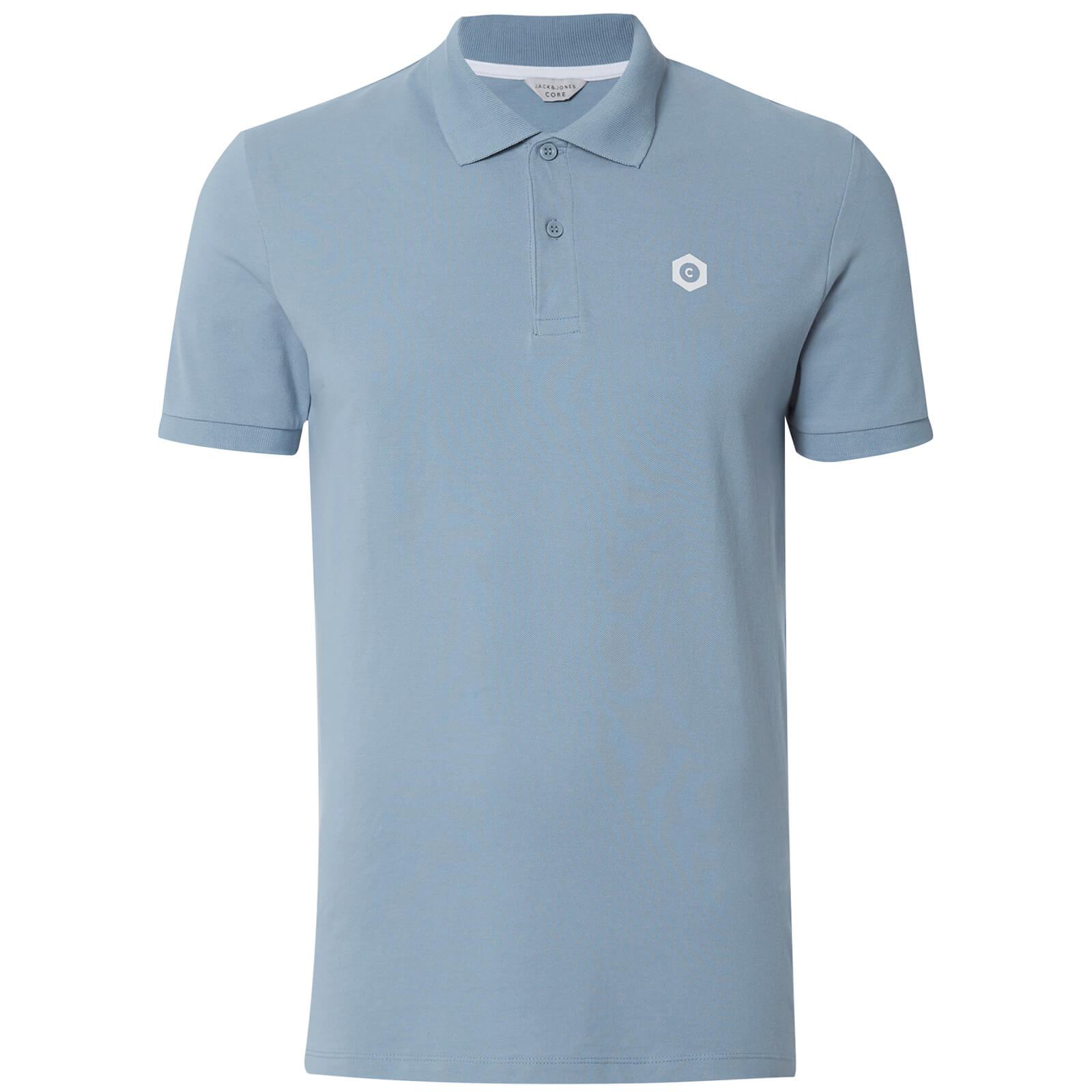 af8a281fb02045 Jack   Jones Core Men s Booster Logo Polo Shirt - Faded Denim ...