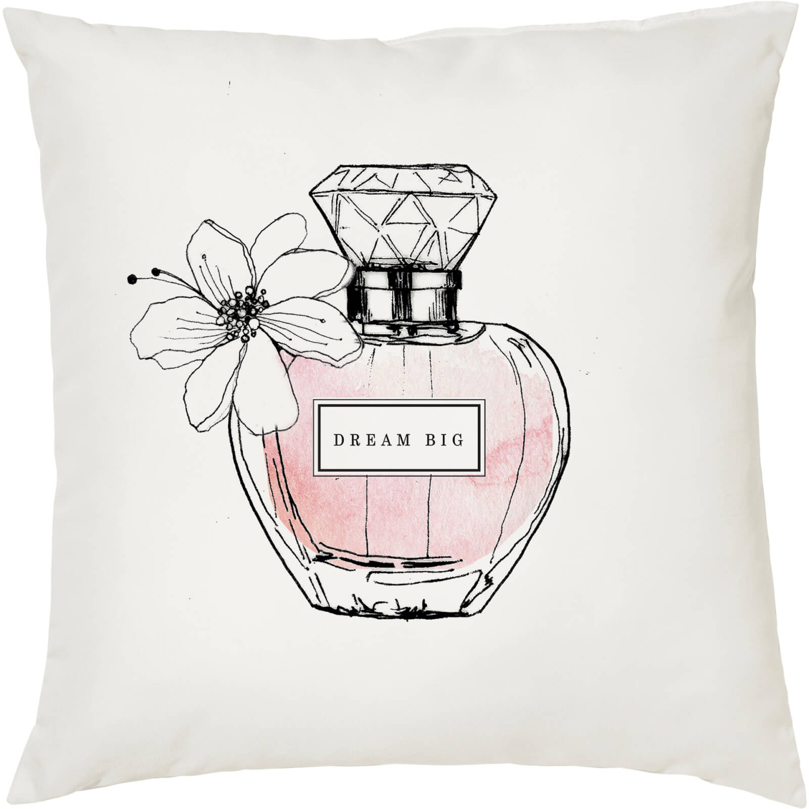 Dream Big Perfume Cushion - White (45 x 45cm)