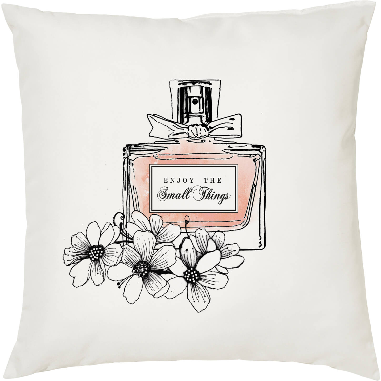 Enjoy The Small Things Cushion - White (45 x 45cm)