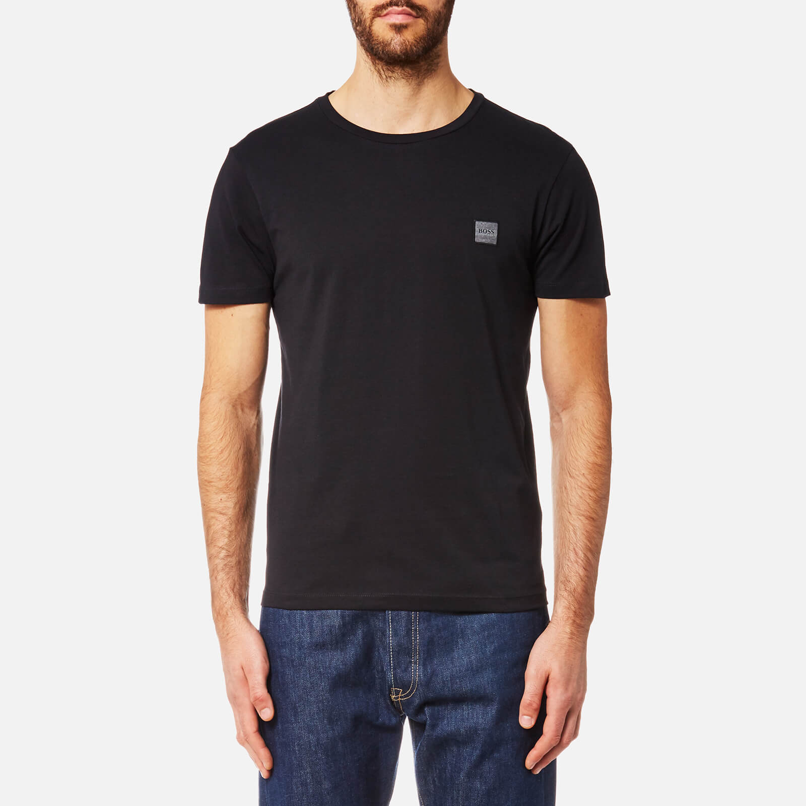 665b7e00a BOSS Orange Men's Tommi Crew Neck T-Shirt - Black - Free UK Delivery over  £50