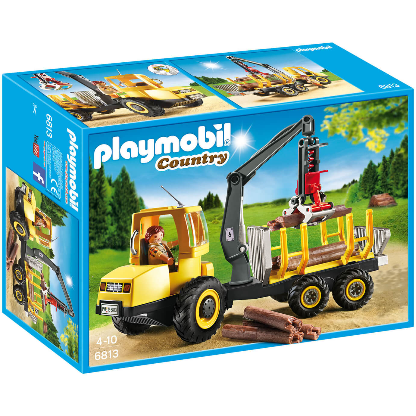 Playmobil Country Timber Transporter with Crane (6813)