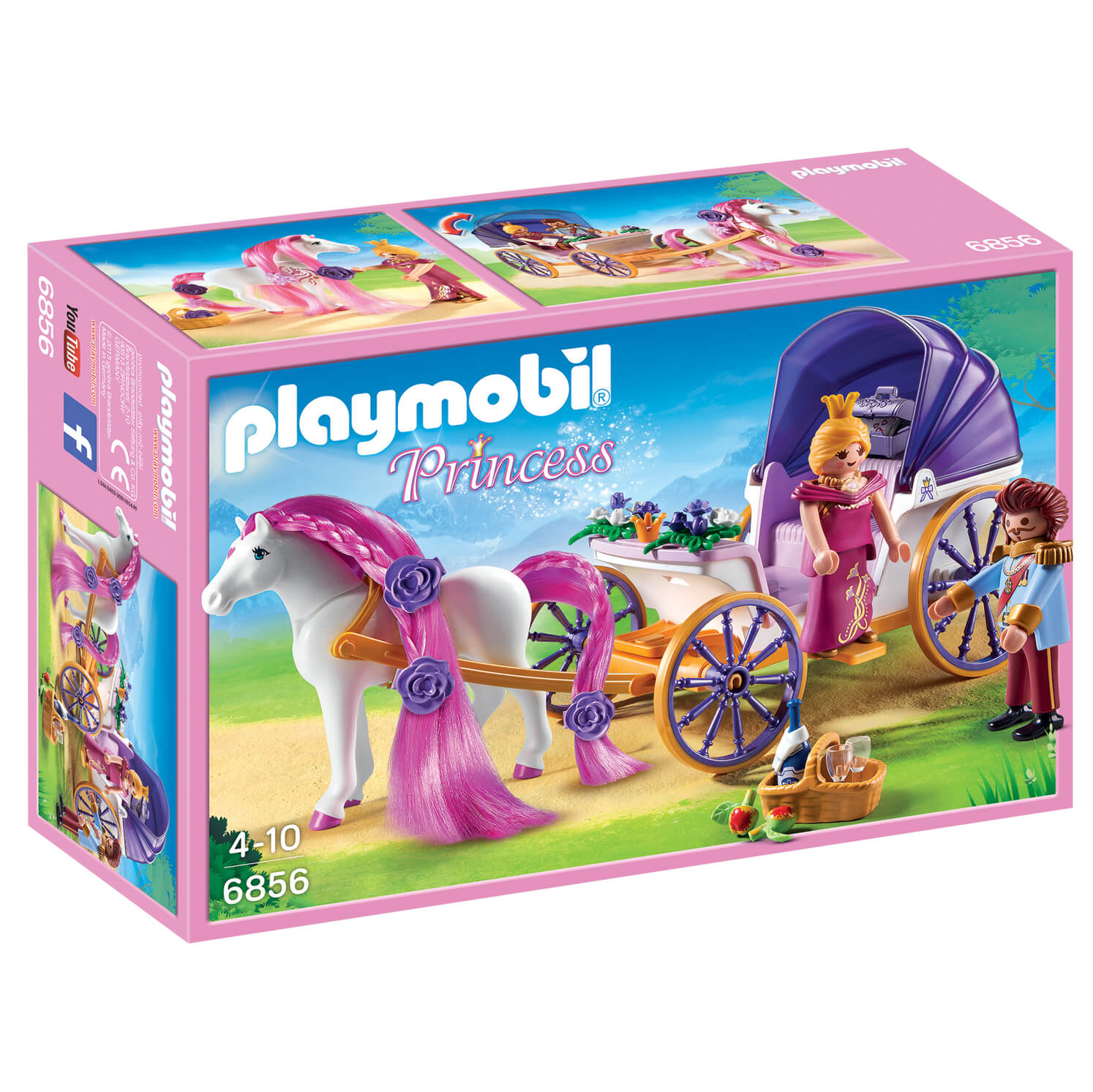 Playmobil Royal Couple with Carriage with Horse Mane to Comb (6856)