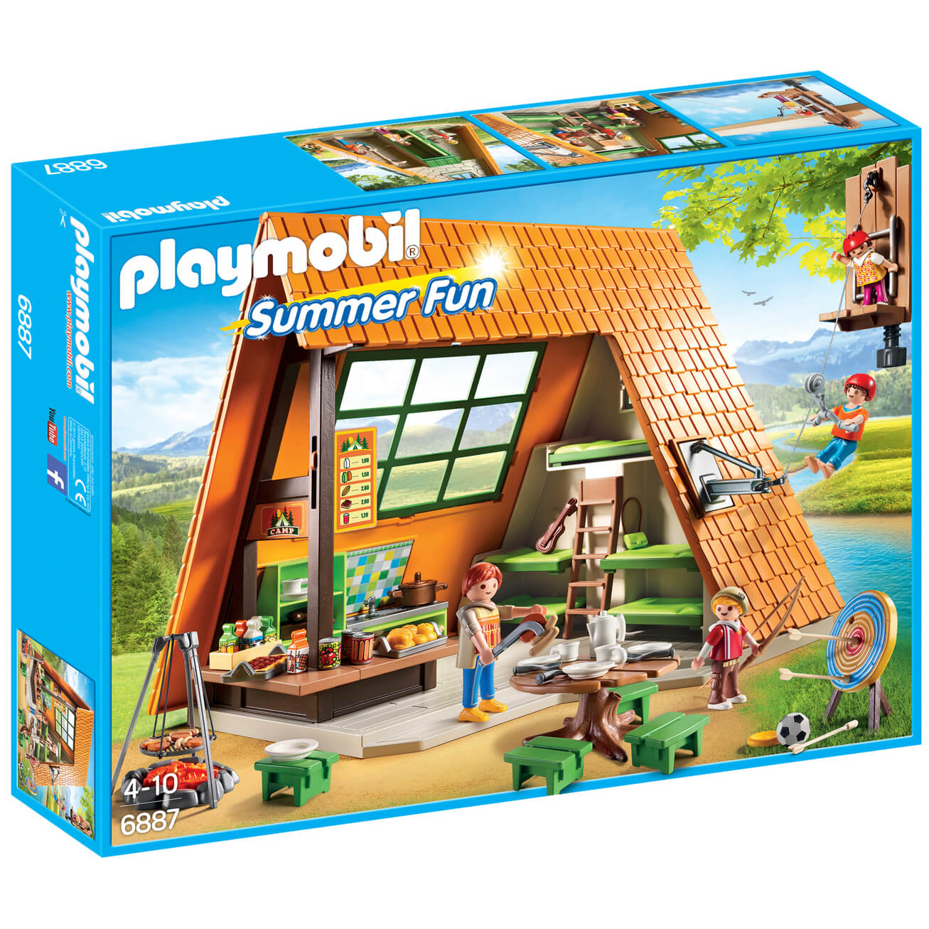 Playmobil Summer Fun Camping Lodge (6887) | IWOOT