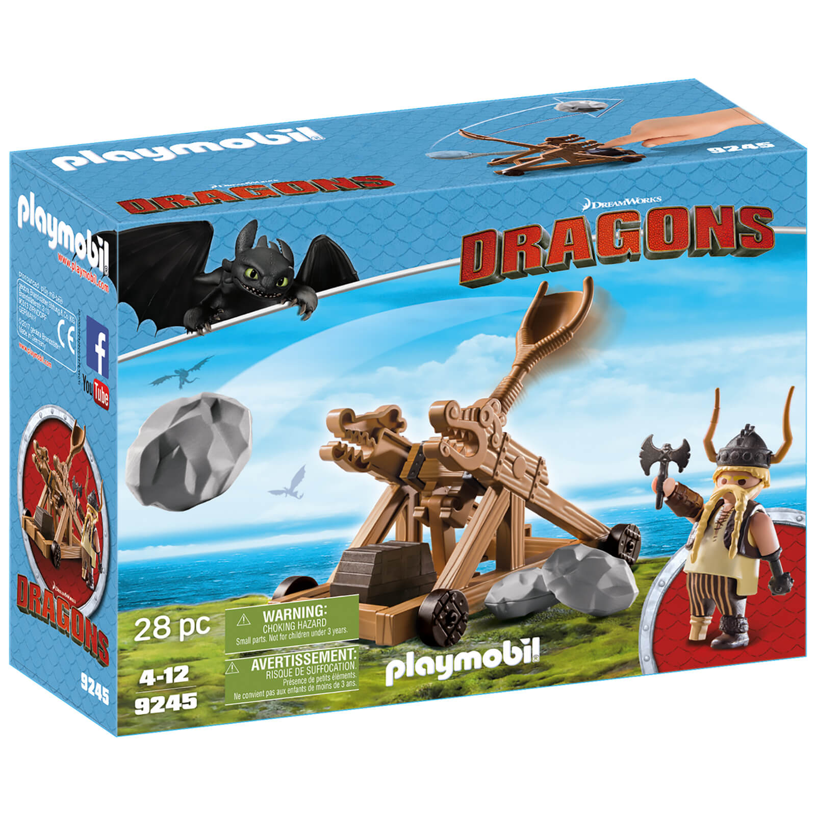 Playmobil How to Train Your Dragon: Gobbver the Belch with Catapult (9245)