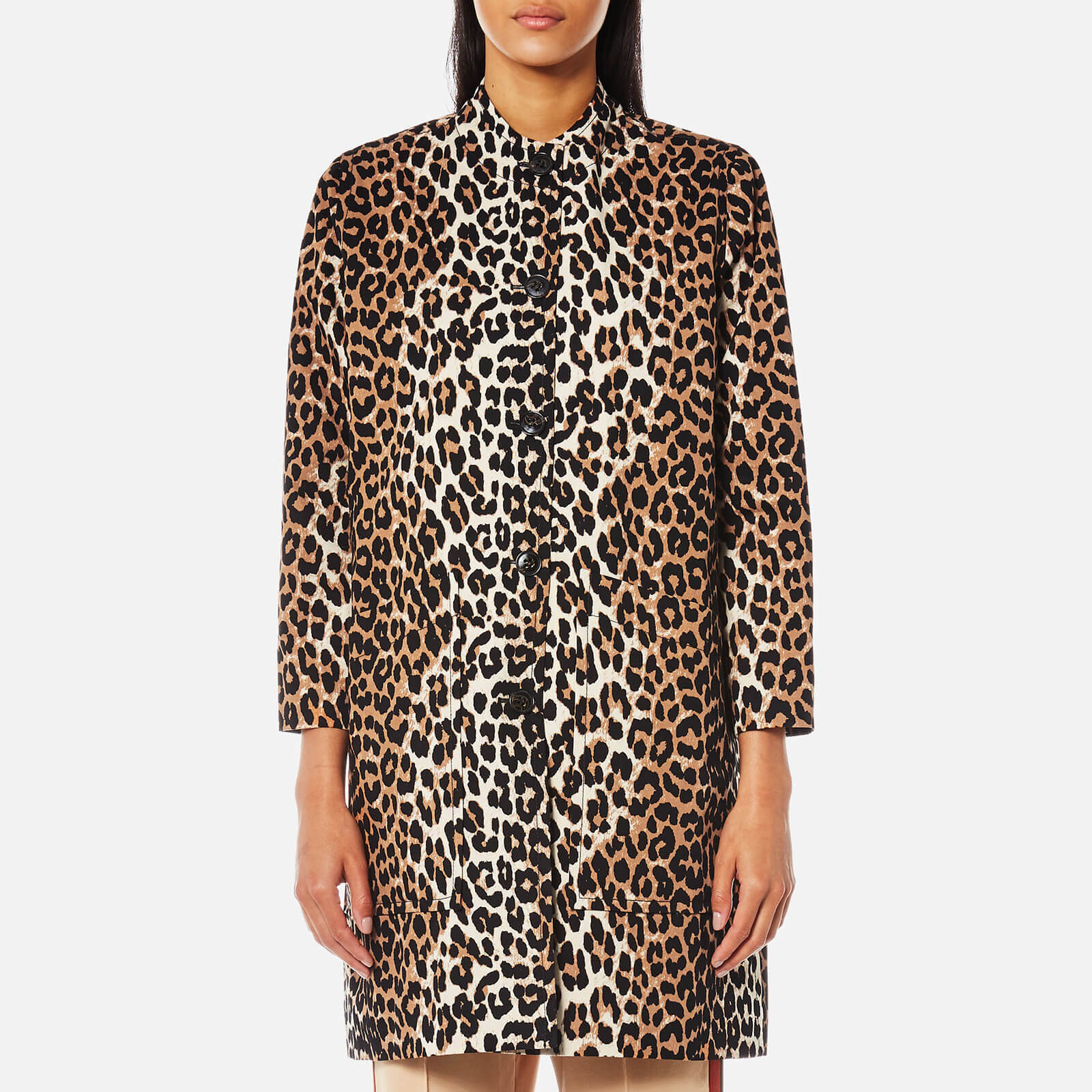 e2de1d5f440 Ganni Women's Fabre Cotton Jacket - Leopard - Free UK Delivery over £50