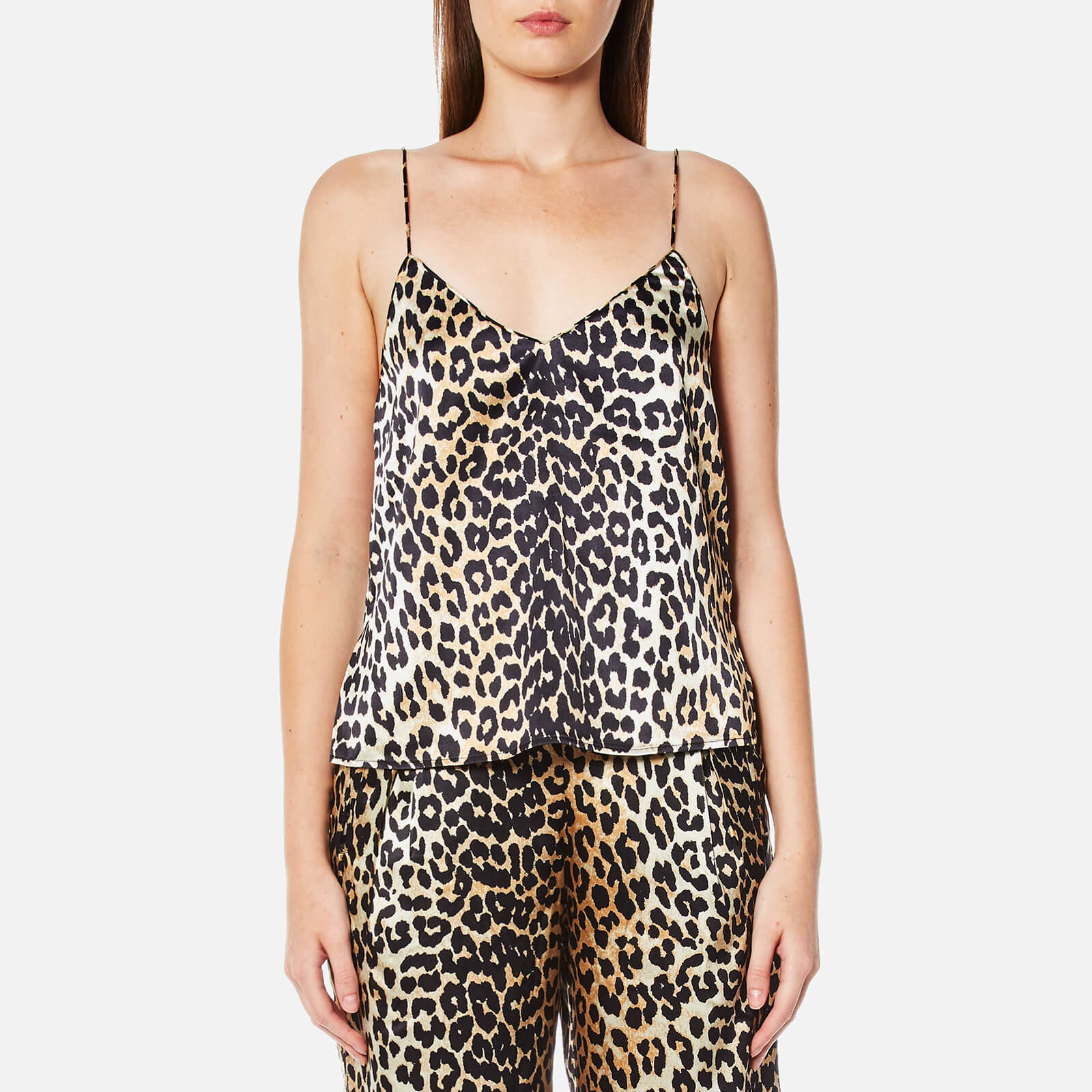 55281b068ccb Ganni Women's Dufort Silk Top - Leopard - Free UK Delivery over £50
