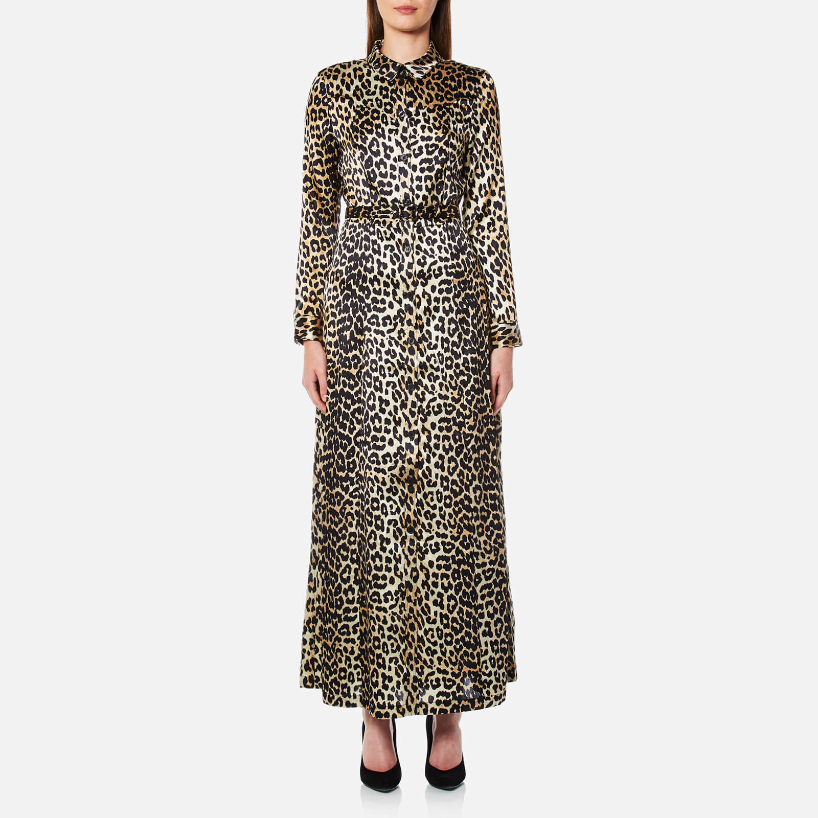 f22a37e9d92d Ganni Women's Dufort Silk Dress - Leopard - Free UK Delivery over £50