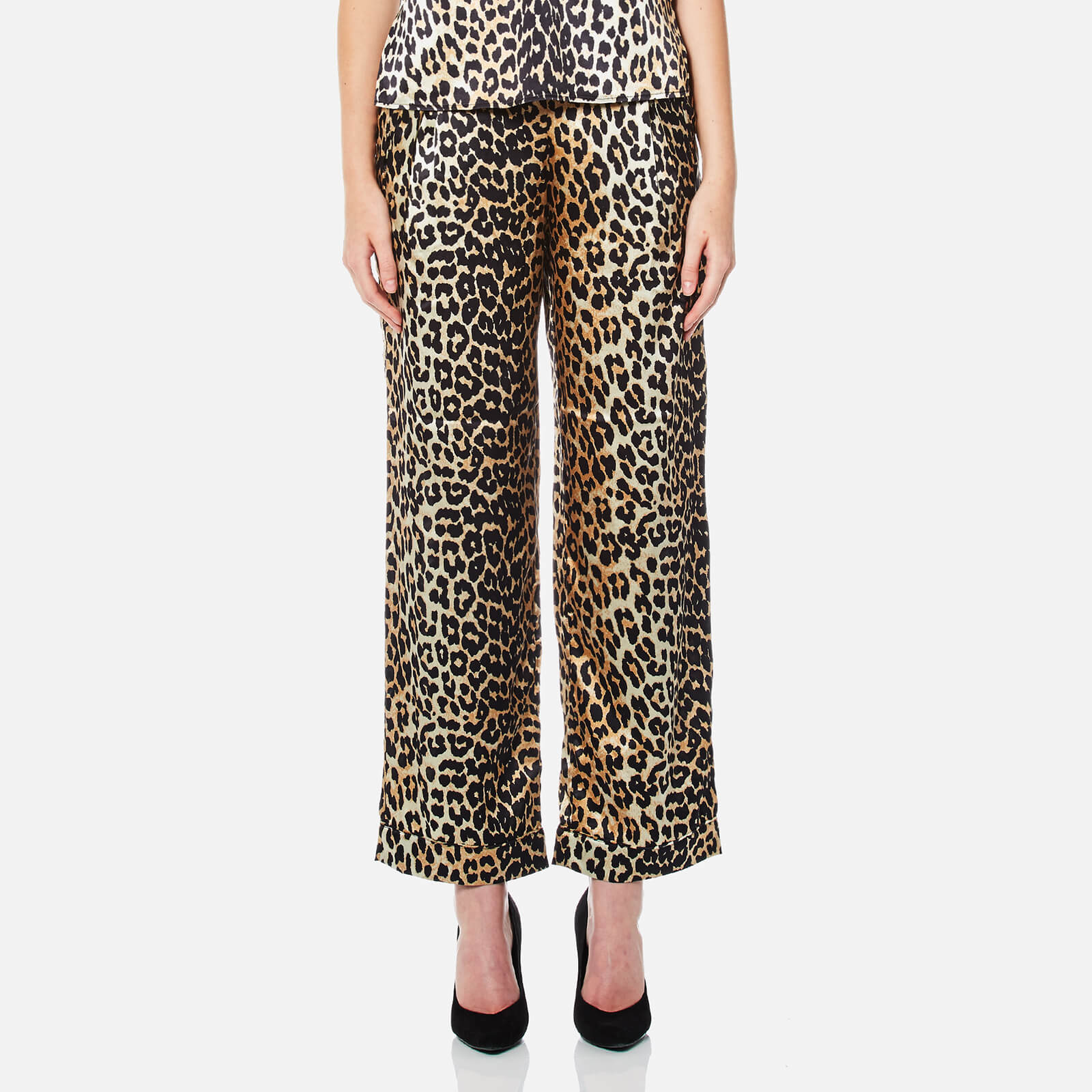 39c9e4a38827 Ganni Women's Dufort Silk Trousers - Leopard - Free UK Delivery over £50
