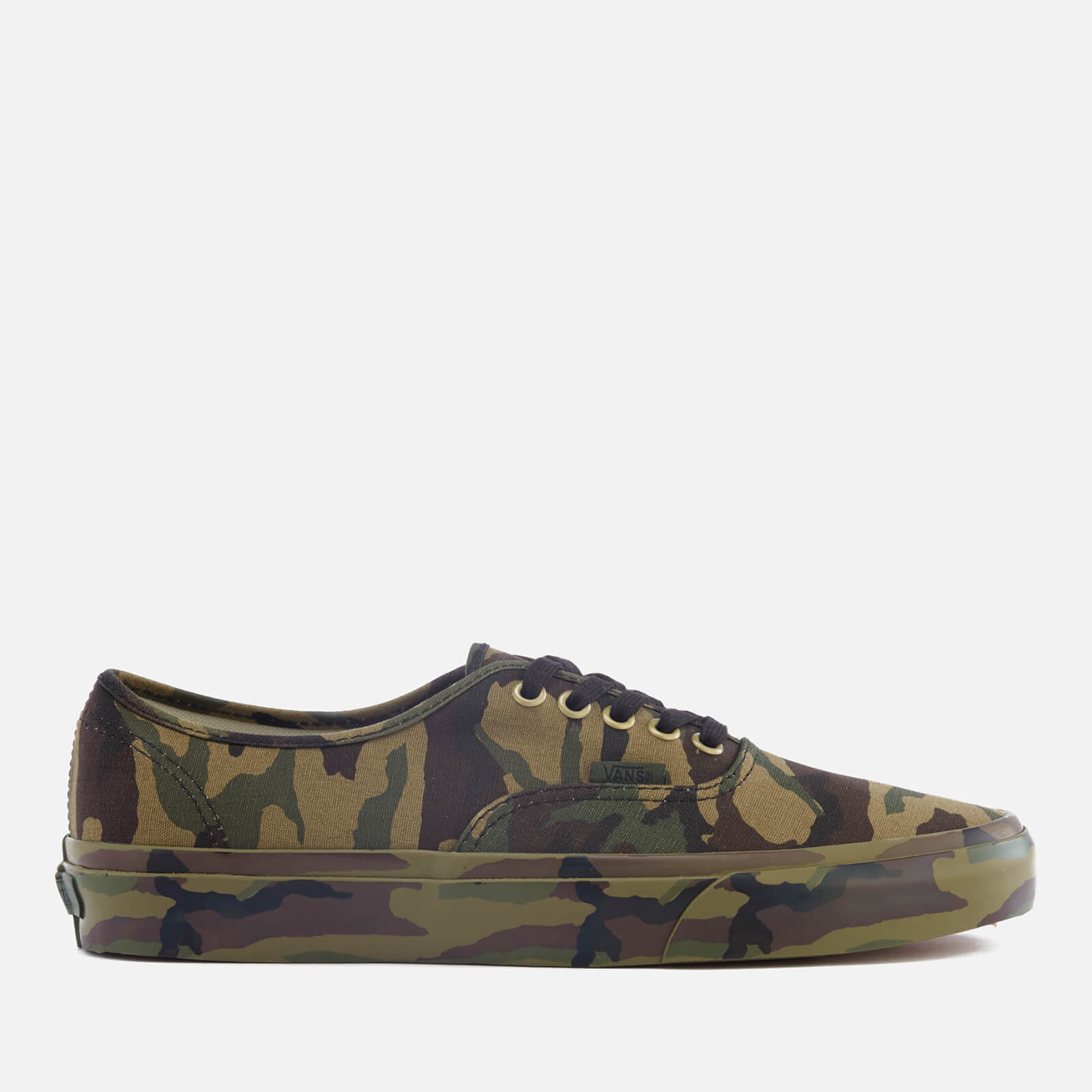 91a90c952a Vans Men s Authentic Mono Print Trainers - Classic Camo - Free UK Delivery  over £50