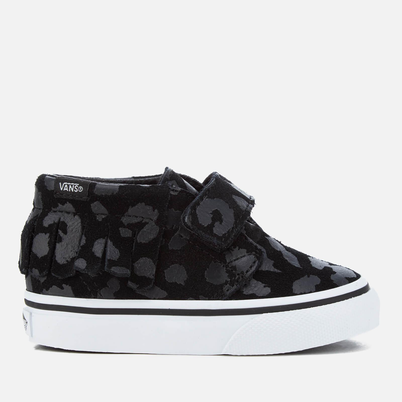 8171957128 Vans Toddlers' Chukka V Moc Leopard Suede Trainers - Black