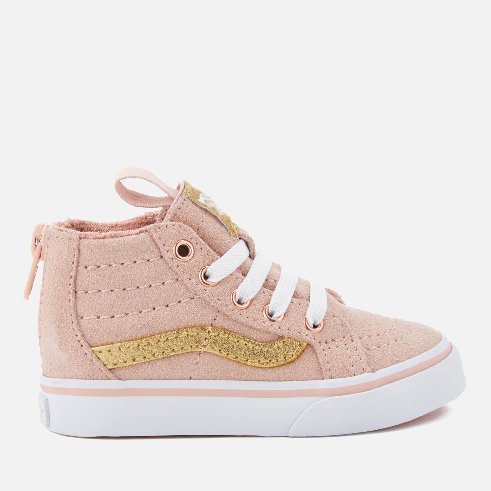 afc6388461 Vans Toddlers  Sk8-Hi Zip Mte Hi-Top Trainers - Sepia Rose Metallic Junior  Clothing