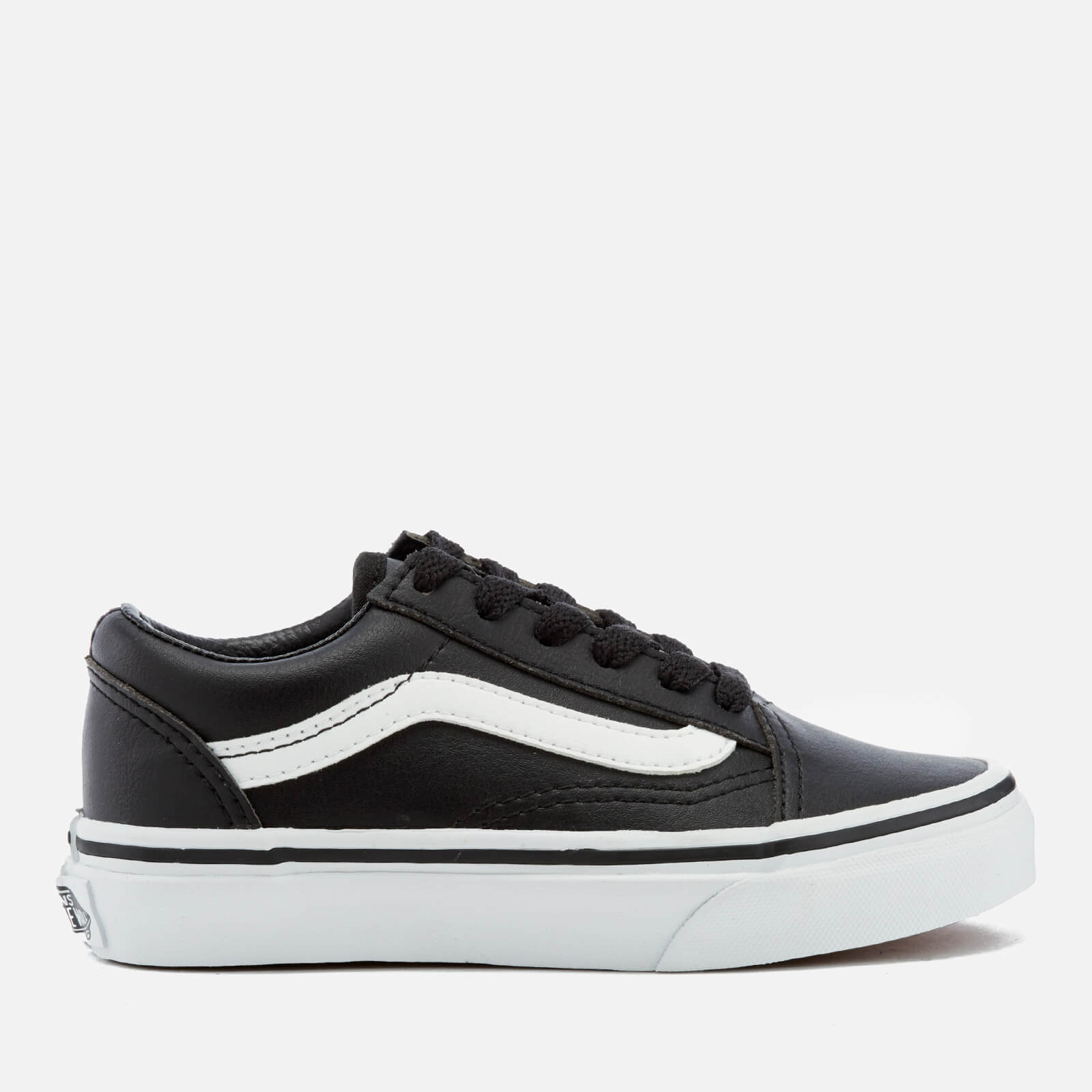 9301b056 Vans Kids' Old Skool Classic Tumble Trainers - Black/True White