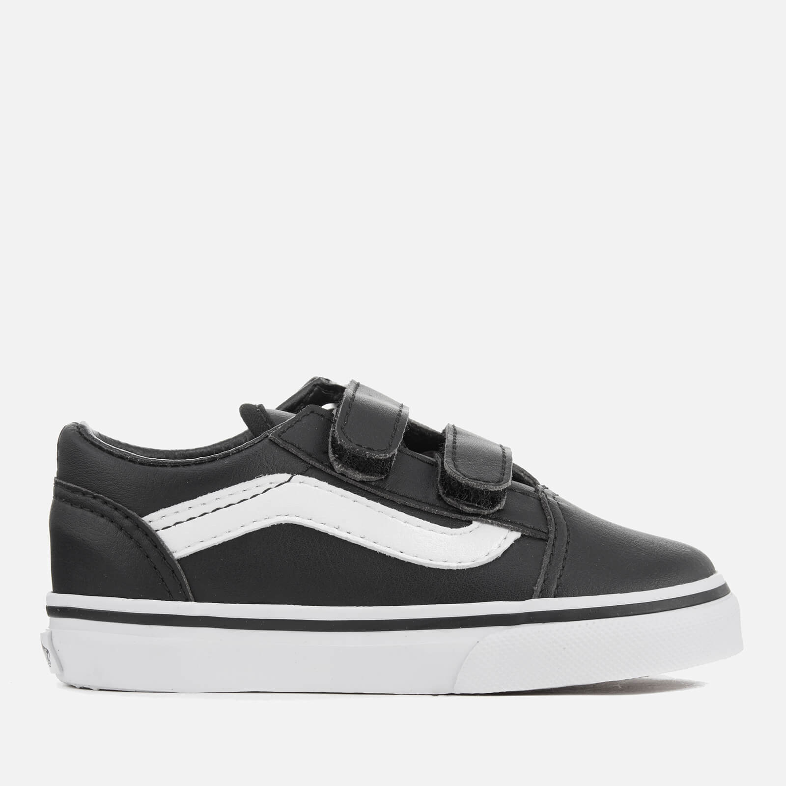 8d49360afb Vans Toddlers' Old Skool V Classic Tumble Trainers - Black/True White