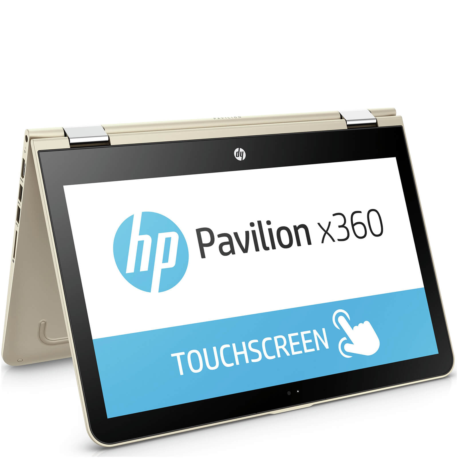 "HP 11-U004NA 11.6"""" Touch-Screen Laptop (Intel Pentium N3710, 4GB, 1TB, 1.6GHz, Windows 10) - Gold - Manufacturer Refurbished"