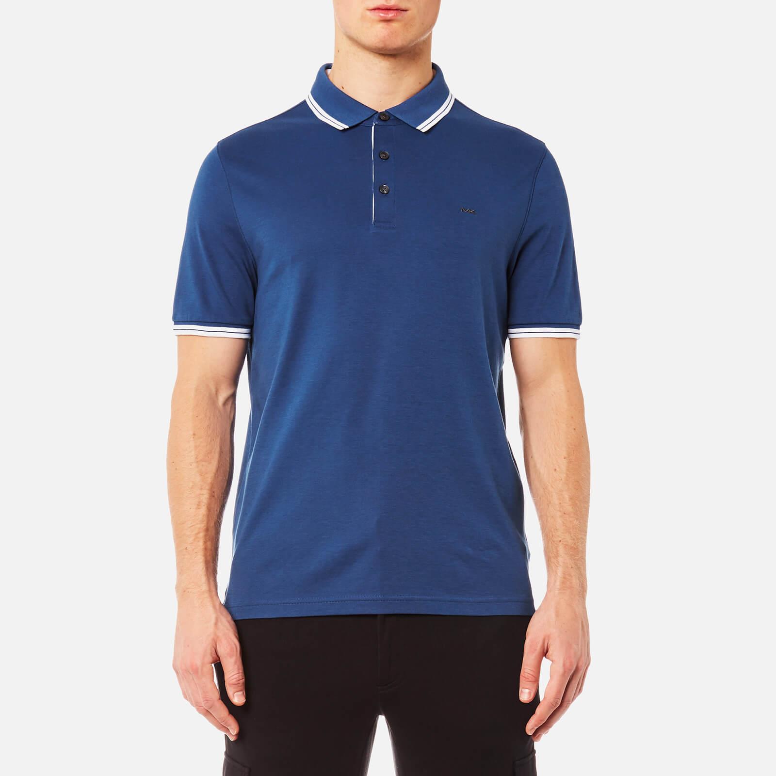 d8b58b20 Michael Kors Men's Logo Collar Polo Shirt - Marine Blue - Free UK ...