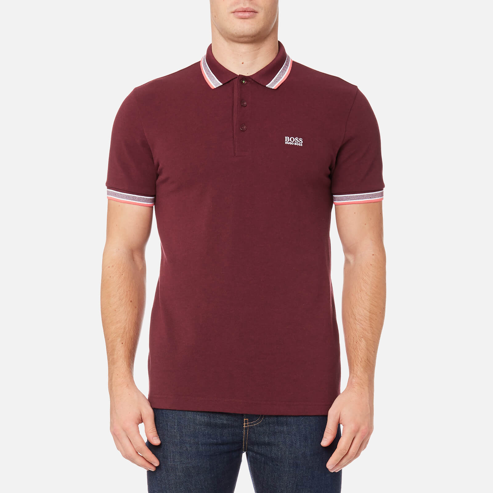 78df4b8a6 BOSS Green Men's Paddy Polo Shirt - Dark Red - Free UK Delivery over £50