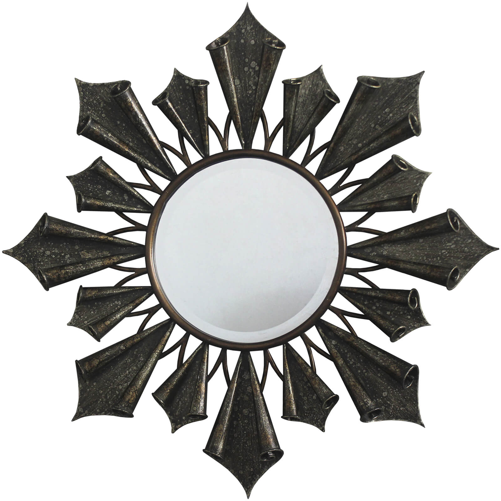 Premier Housewares Verona Starburst Wall Mirror - Antique Gold