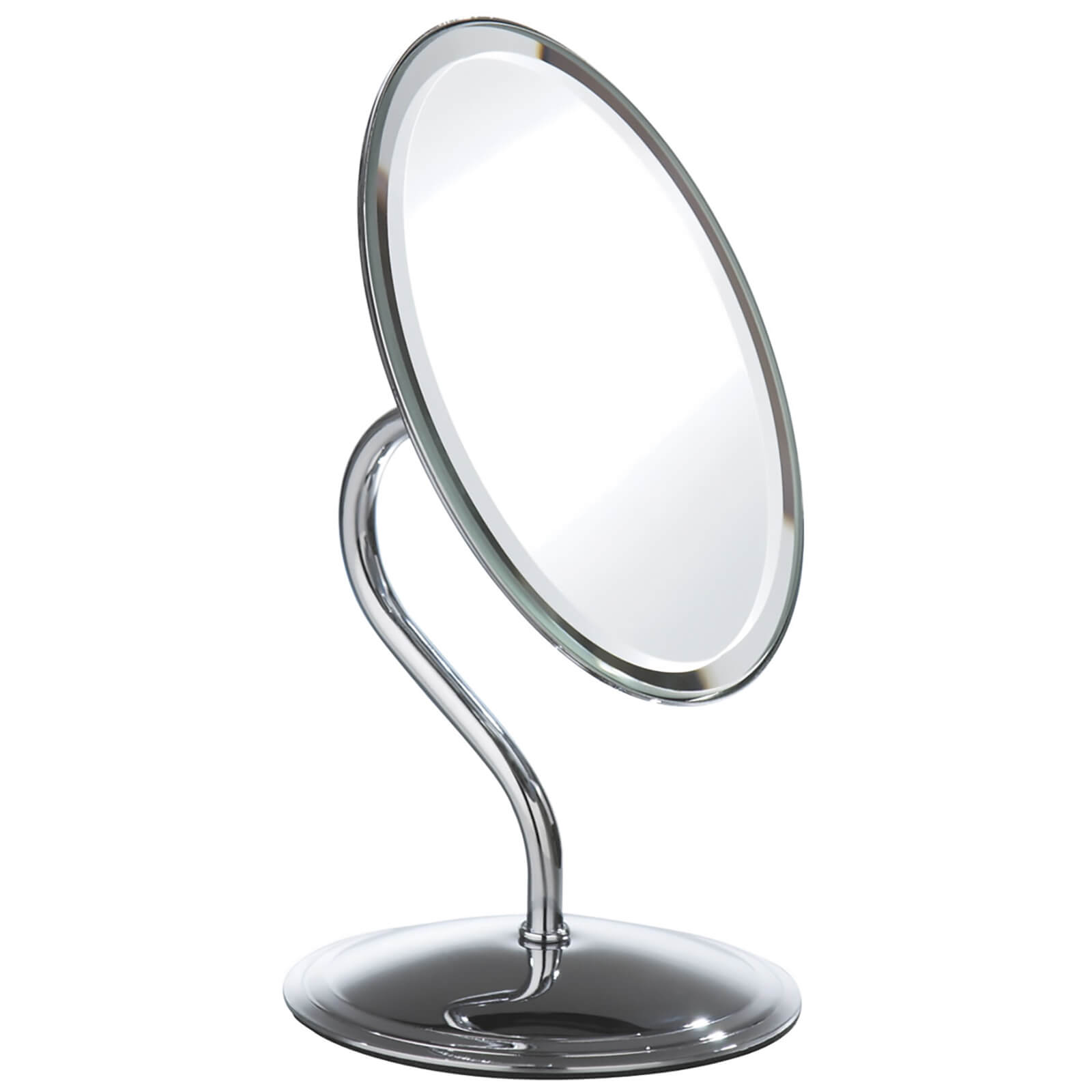 Premier Housewares Oval Swivel Mirror - Chrome Finish