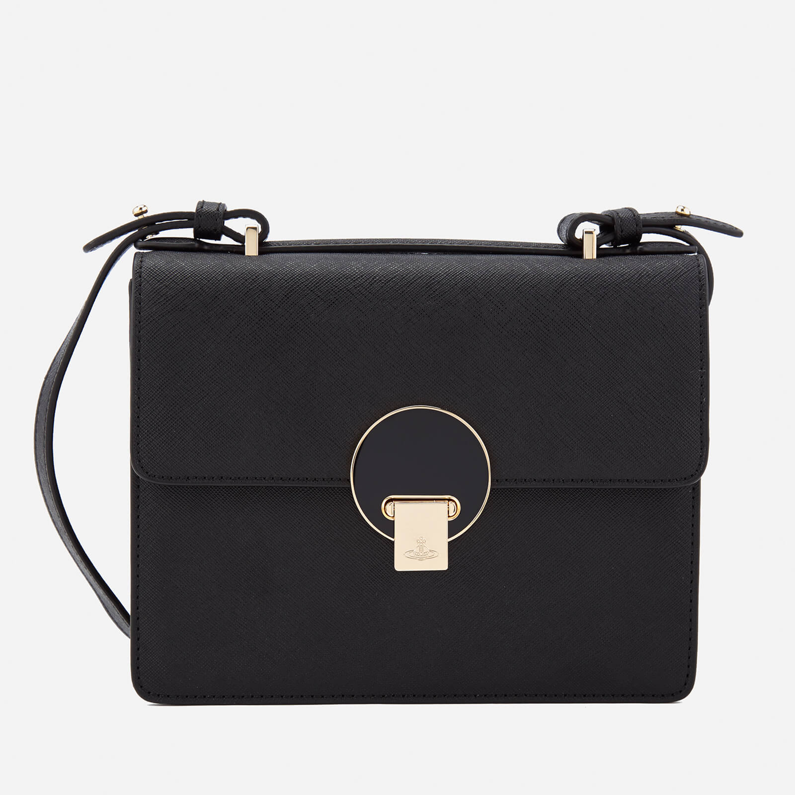 21d069fcc6d Vivienne Westwood Women's Opio Saffiano Small Shoulder Bag - Black - Free  UK Delivery over £50