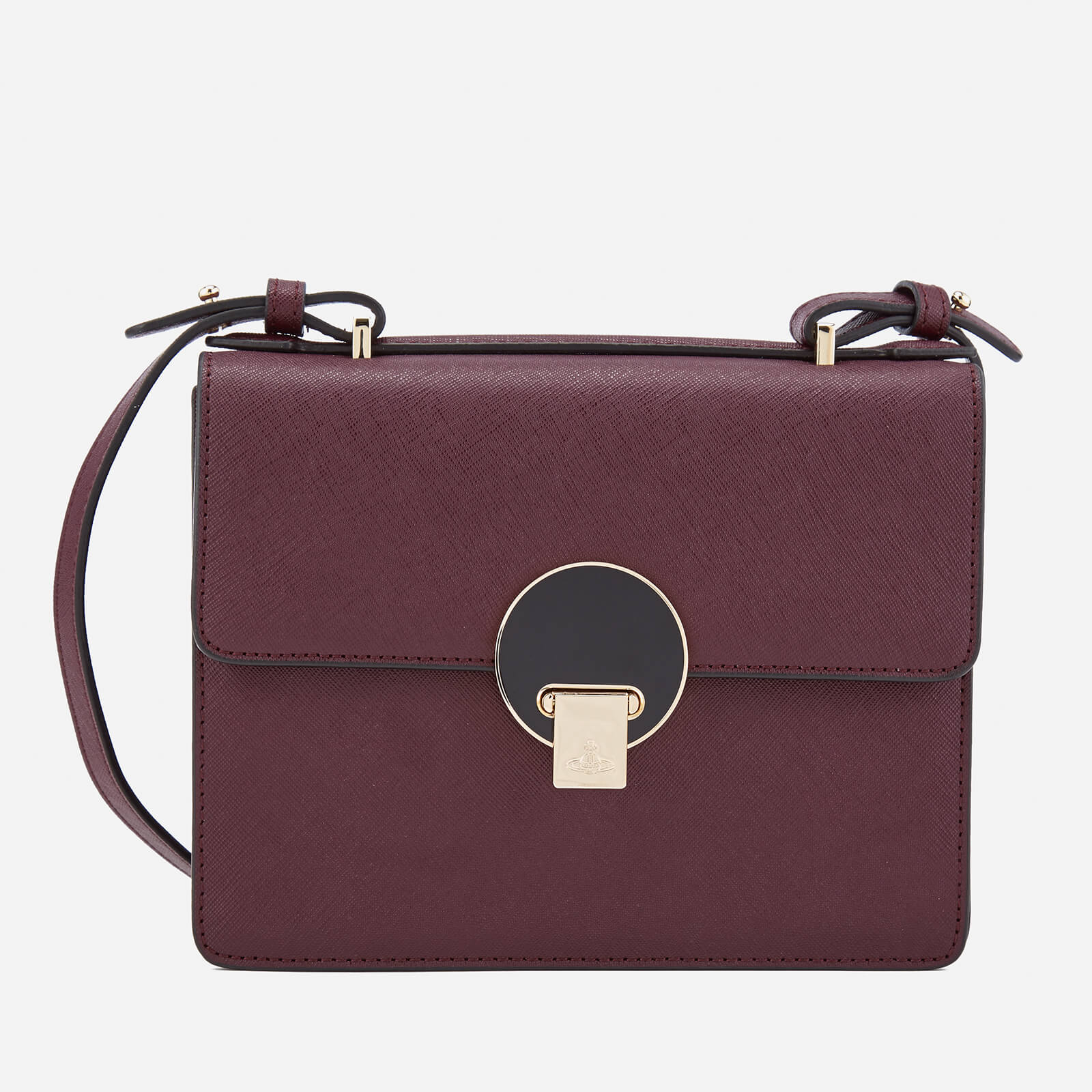 e3eb7c8f0e5b Vivienne Westwood Women s Opio Saffiano Small Shoulder Bag - Bordeaux -  Free UK Delivery over £50