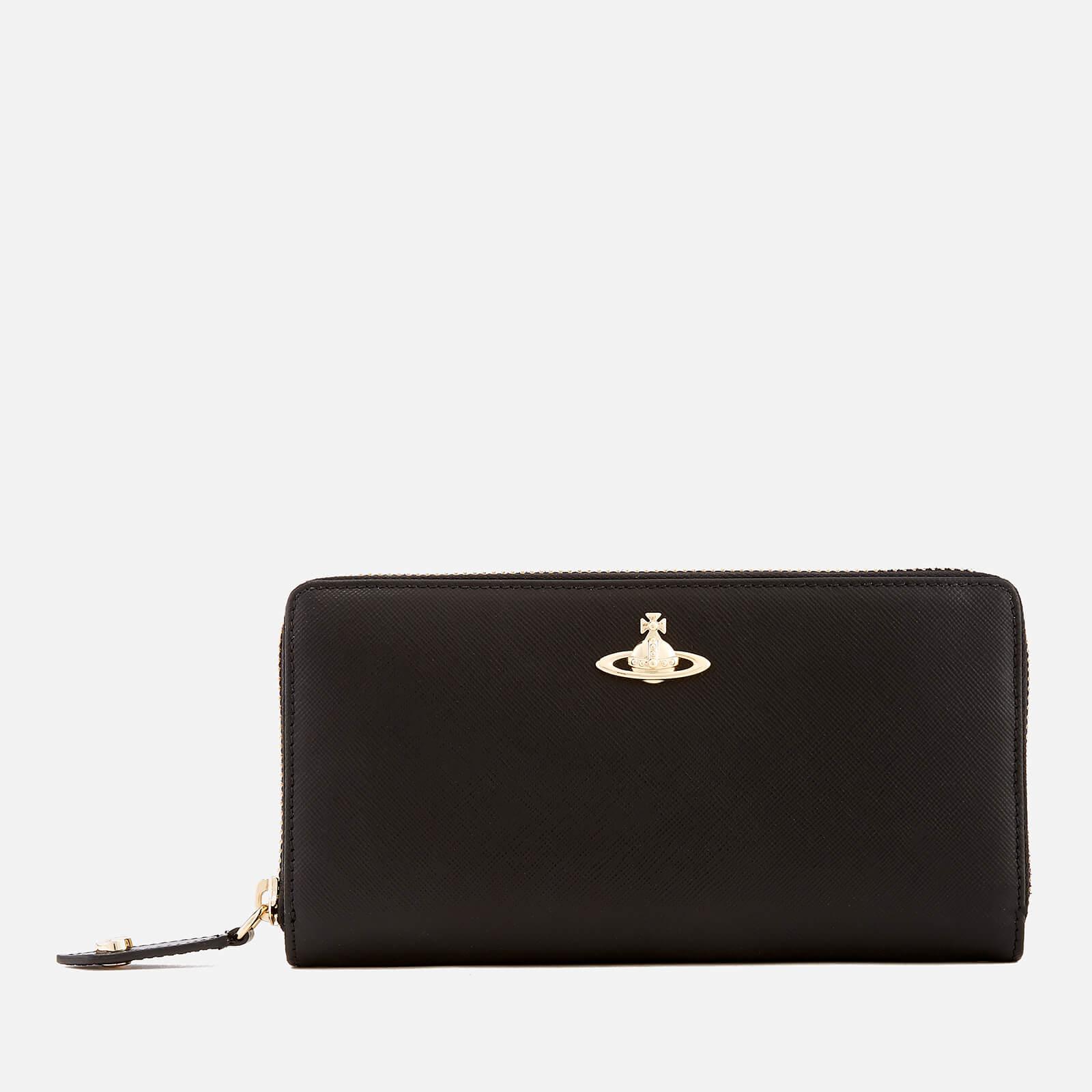 17a214ee75d Vivienne Westwood Women's Opio Saffiano Zip Around Wallet - Black - Free UK  Delivery over £50