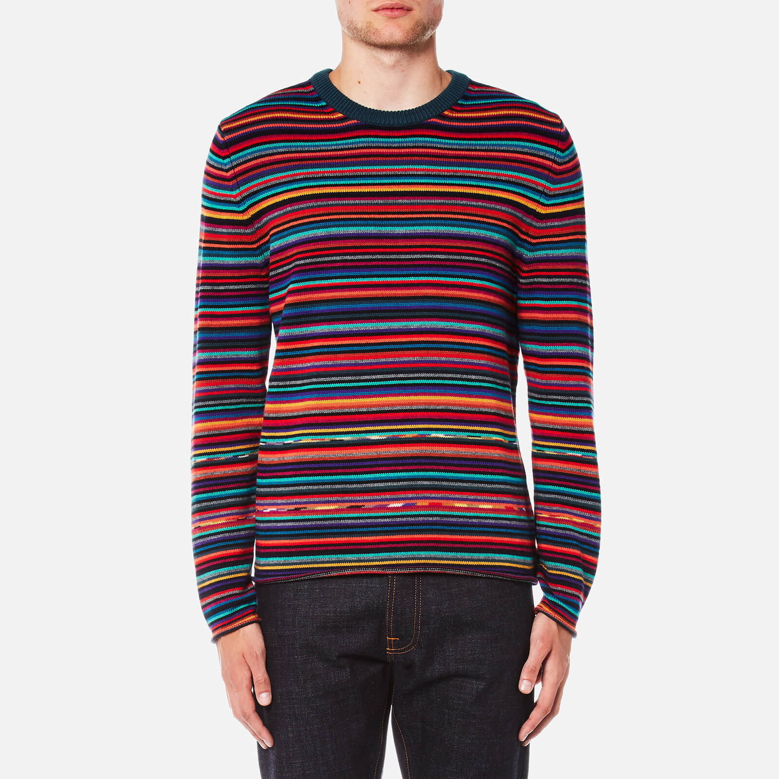 0574f6e83 PS by Paul Smith Men s All Over Stripe Knitted Jumper - Multi - Free ...