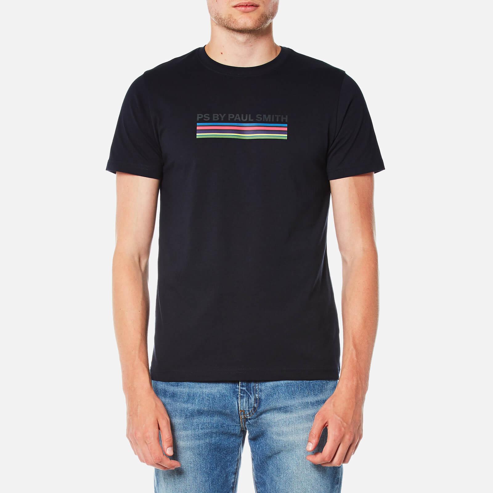 7b139c638d ... PS Paul Smith Men's Printed P.S Stripe Slim Fit T-Shirt - Navy