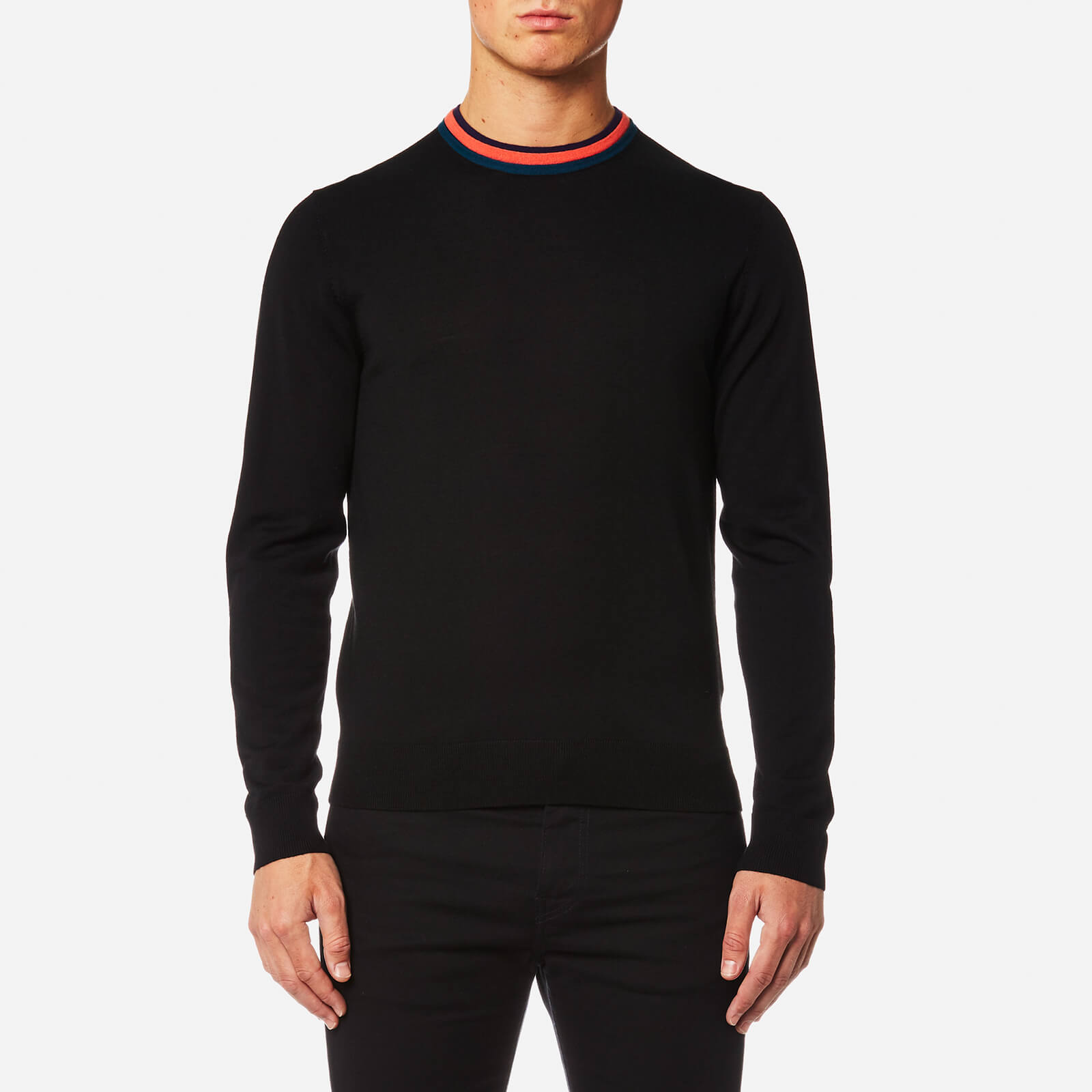 621d70961e6c89 PS by Paul Smith Men's Collar Detail Knitted Jumper - Black - Free UK  Delivery over £50