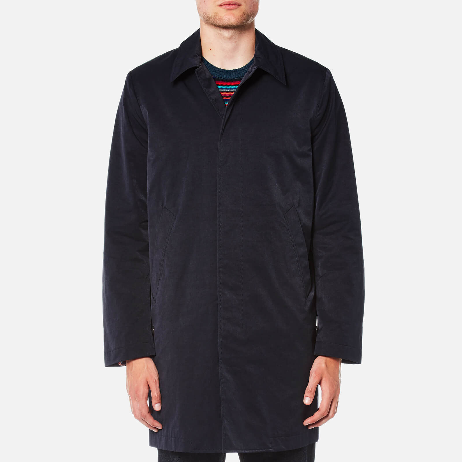 34e1d31a8f018 PS by Paul Smith Men's Buttoned Mac - Blue - Free UK Delivery over £50