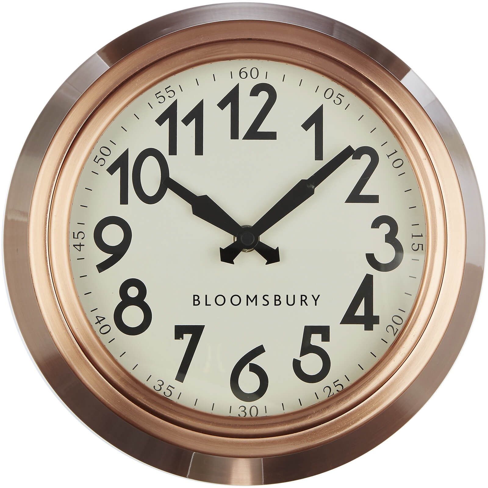 Fifty Five South Great London Wall Clock - Copper Finish