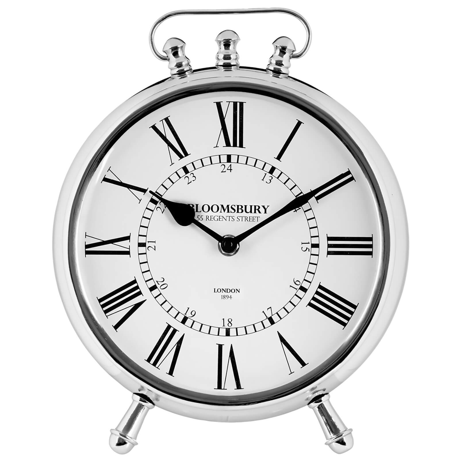 Fifty Five South Hampstead Table Clock - Aluminium/Nickel