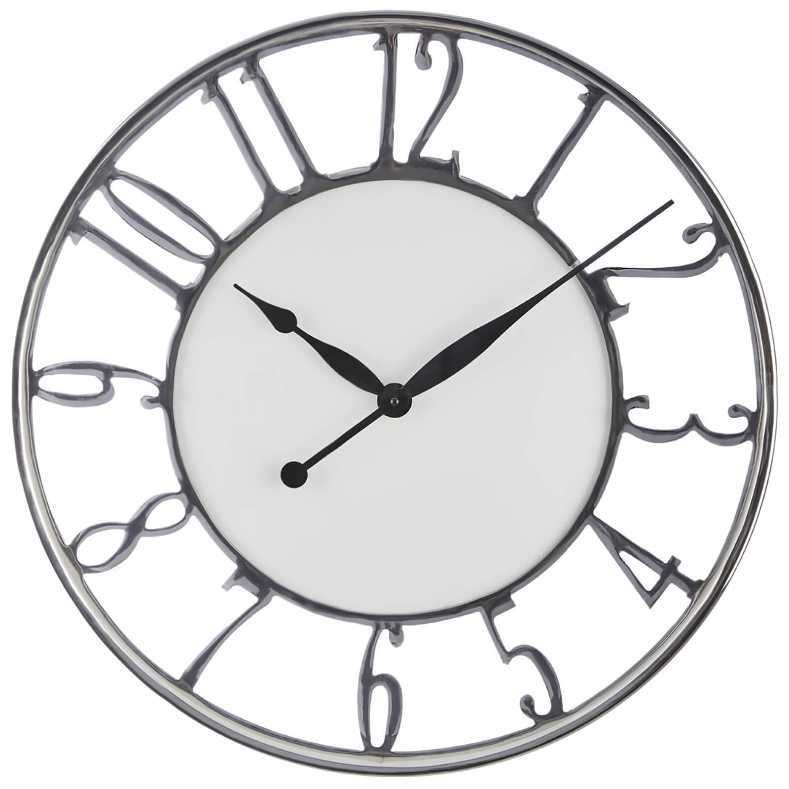 Fifty Five South Hampstead Wall Clock - Silver